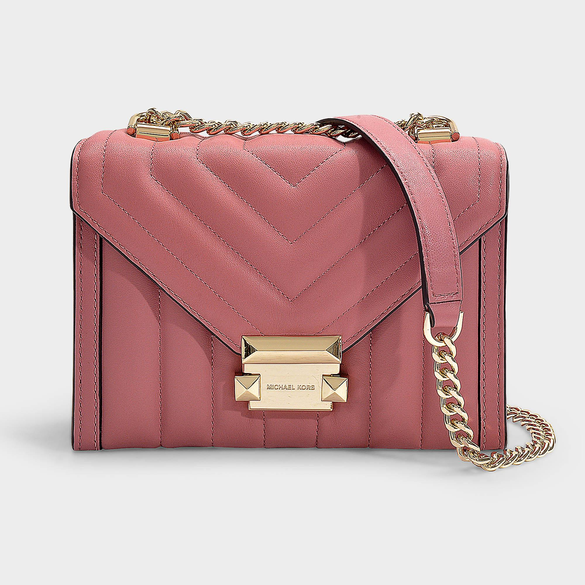 5121d6987 MICHAEL Michael Kors - Pink Whitney Small Shoulder Bag In Rose Quilted  Lambskin - Lyst. View fullscreen