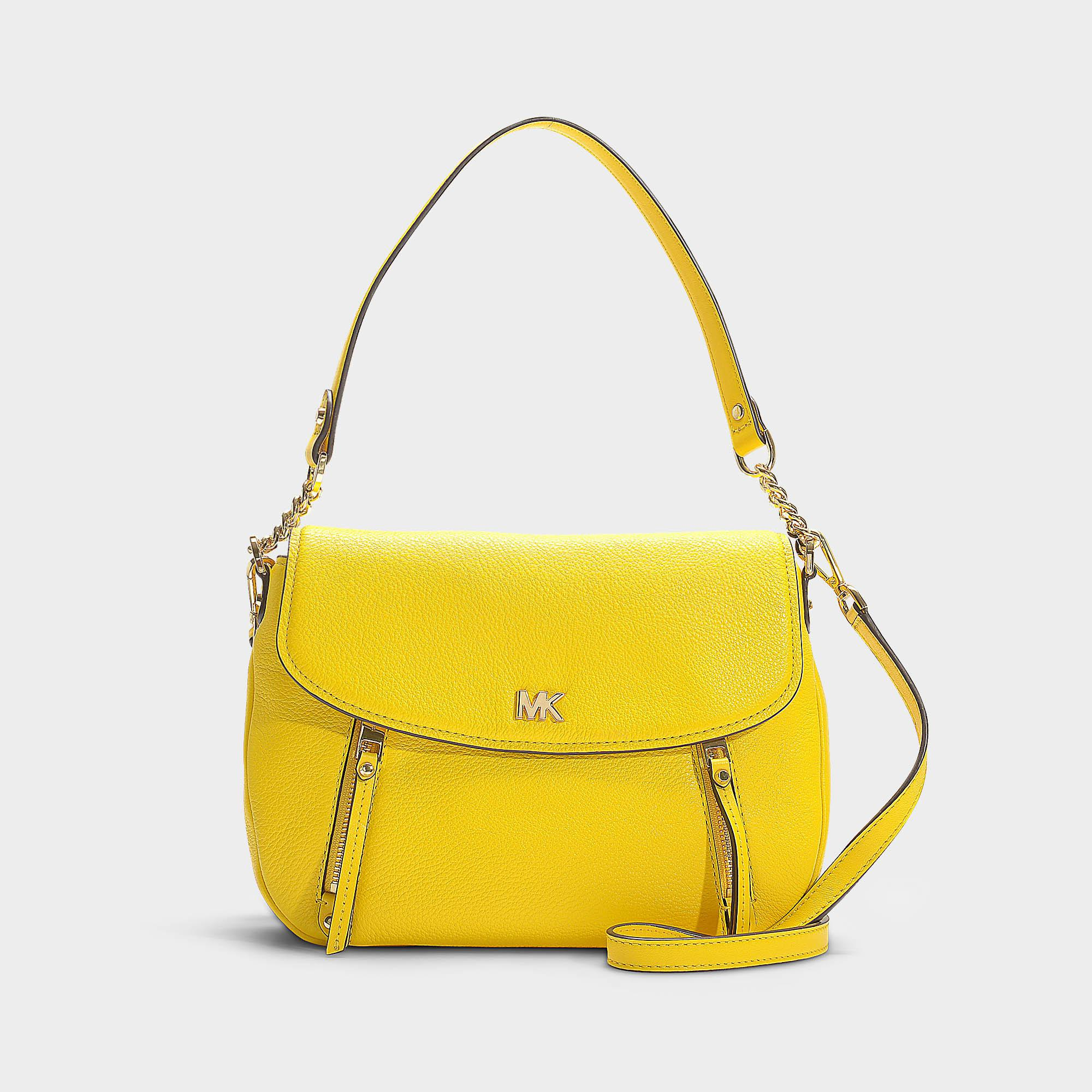 1d88f9de4319 MICHAEL Michael Kors Evie Medium Shoulder Flap Bag In Sunflower ...
