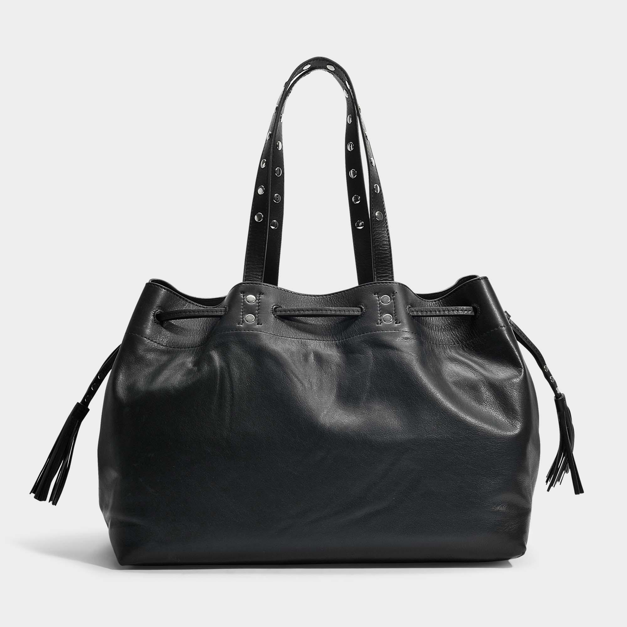 a1a8b84816 Sac cabas simple 2 bis en cuir noir Gerard Darel en coloris Noir - Lyst