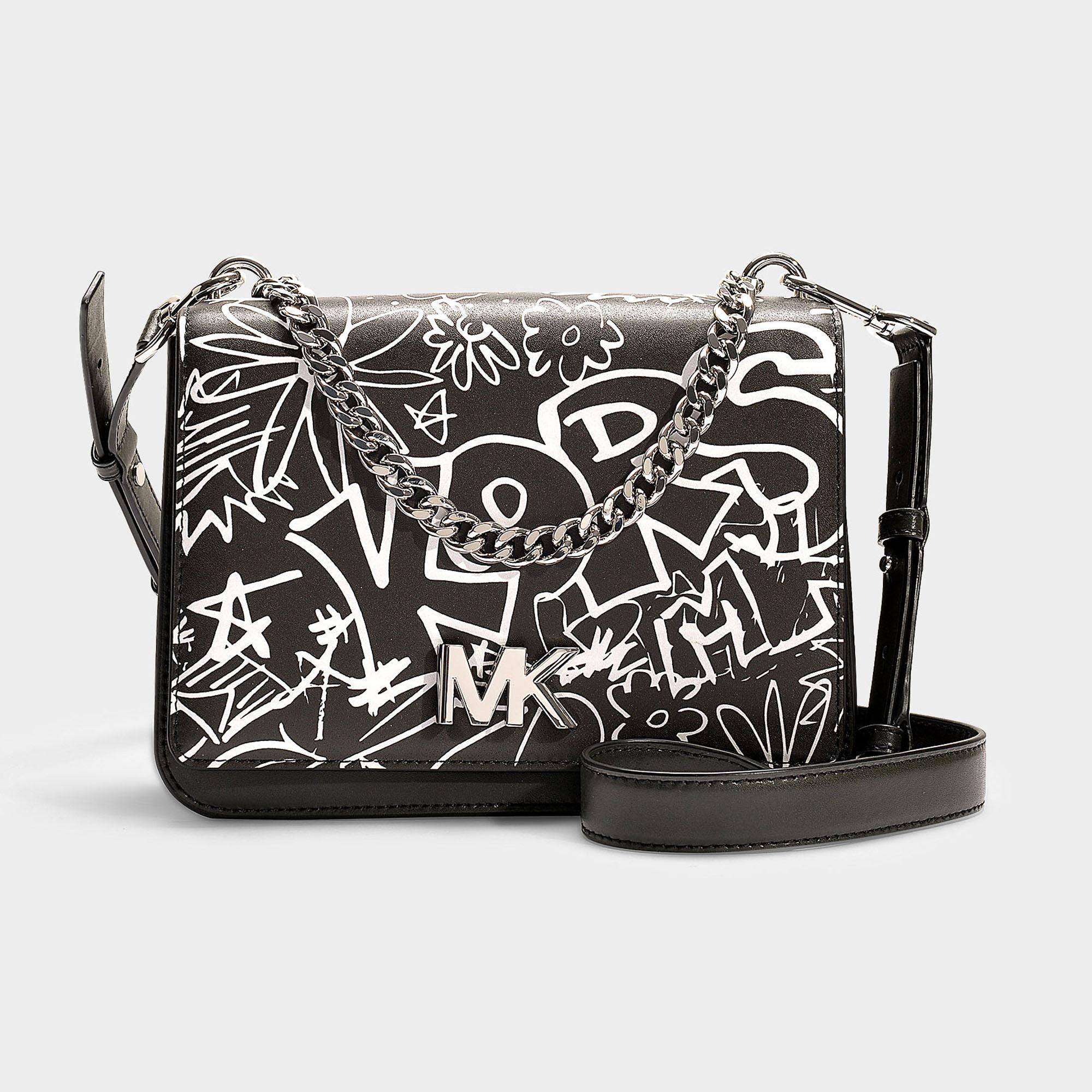 128771828610 Lyst - Michael Michael Kors Mott Large Chain Swag Shoulder Bag In ...