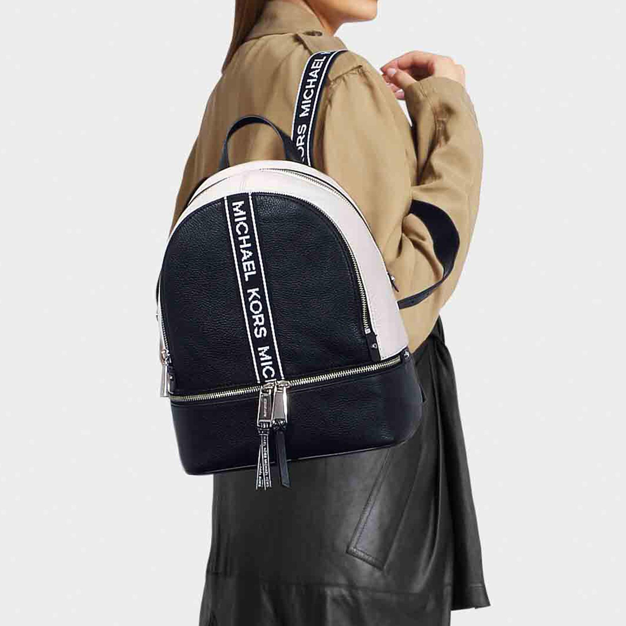 17ae39dc3e08 Michael Kors - Black Rhea Medium Backpack - Lyst. View fullscreen