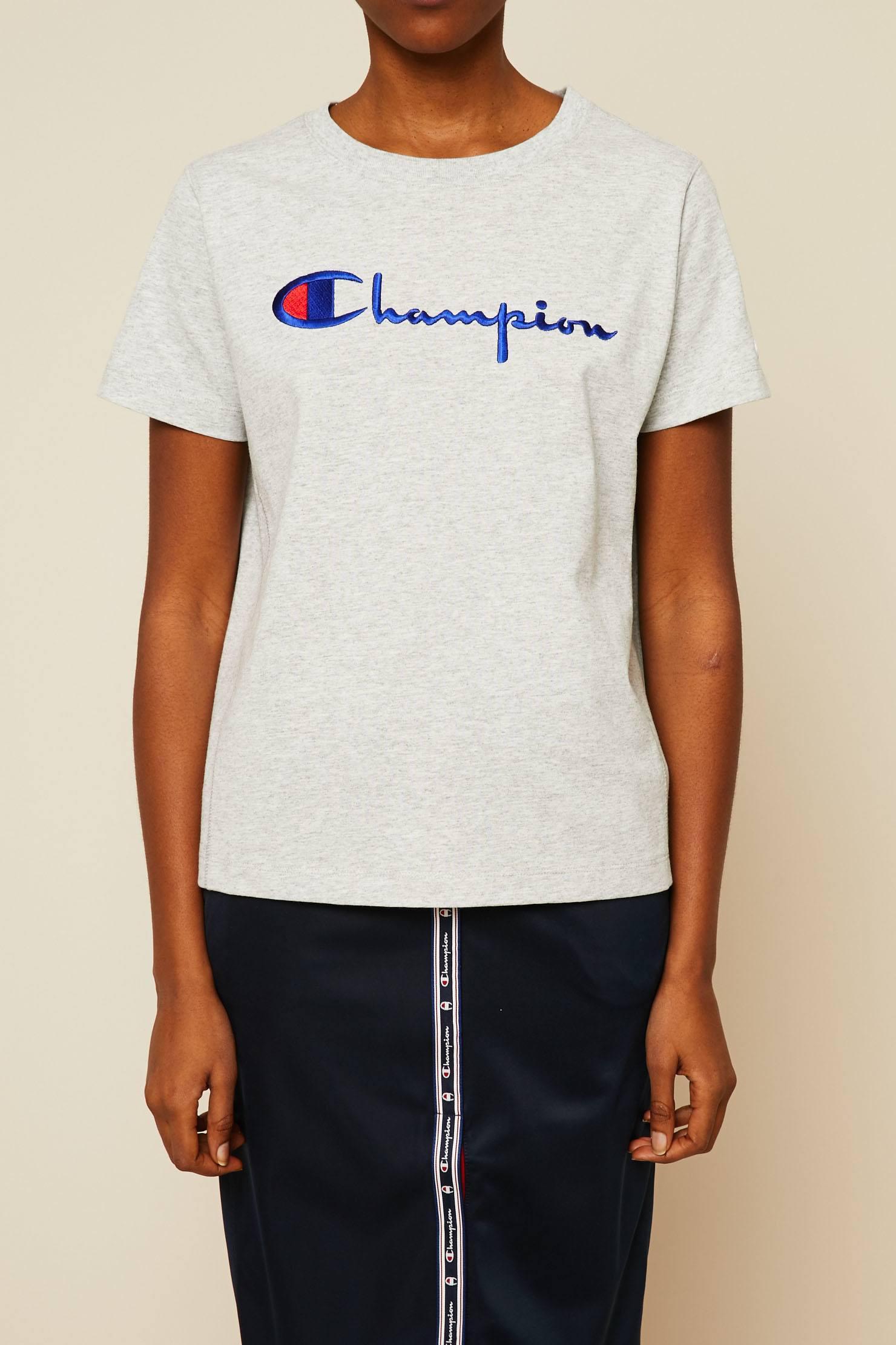 35a5bff3d17e Champion | Gray T-shirts & Polo Shirts | Lyst. View Fullscreen
