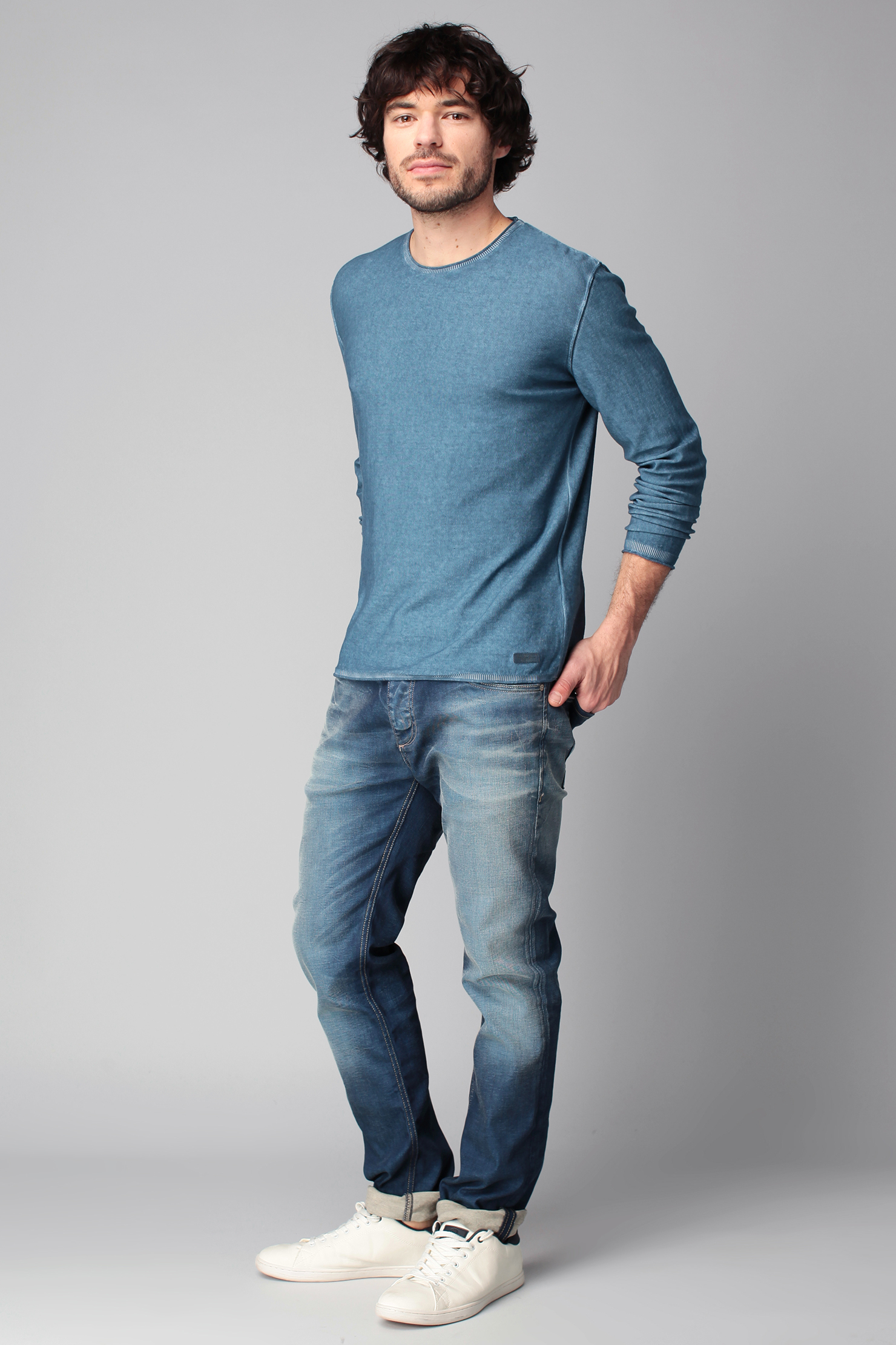 Lyst pepe jeans jumper in blue for men - Pepe jeans showroom ...