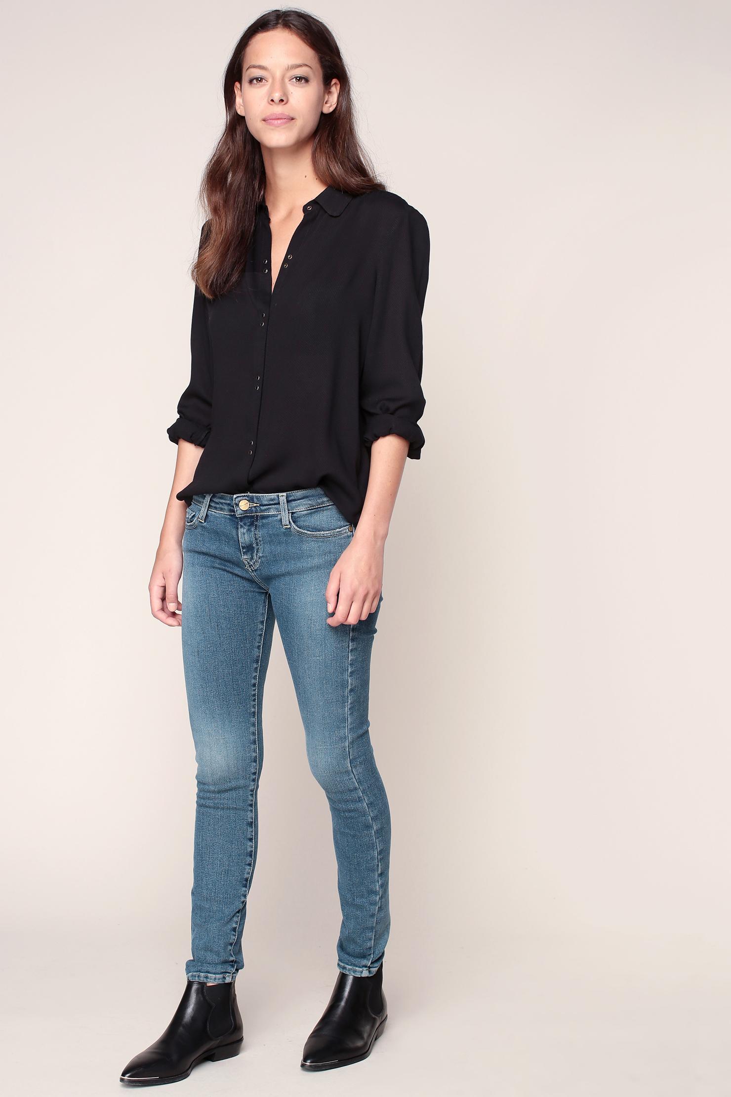 acquaverde skinny jeans in blue lyst. Black Bedroom Furniture Sets. Home Design Ideas