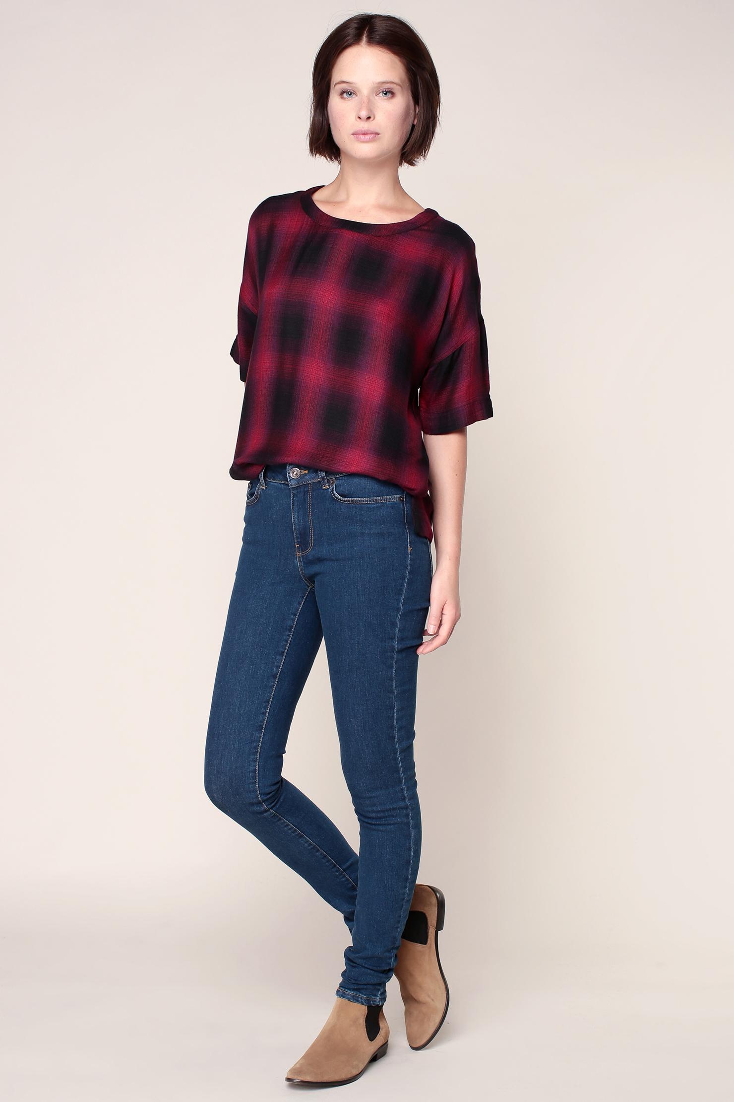 vero moda skinny jeans in blue lyst. Black Bedroom Furniture Sets. Home Design Ideas