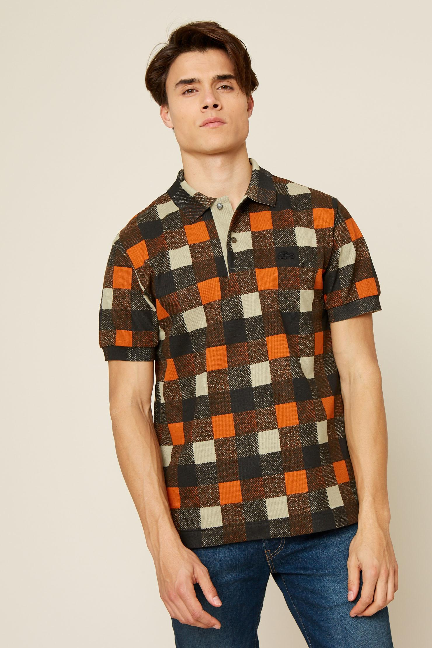 Lyst Lacoste Polo Shirt In Brown For Men
