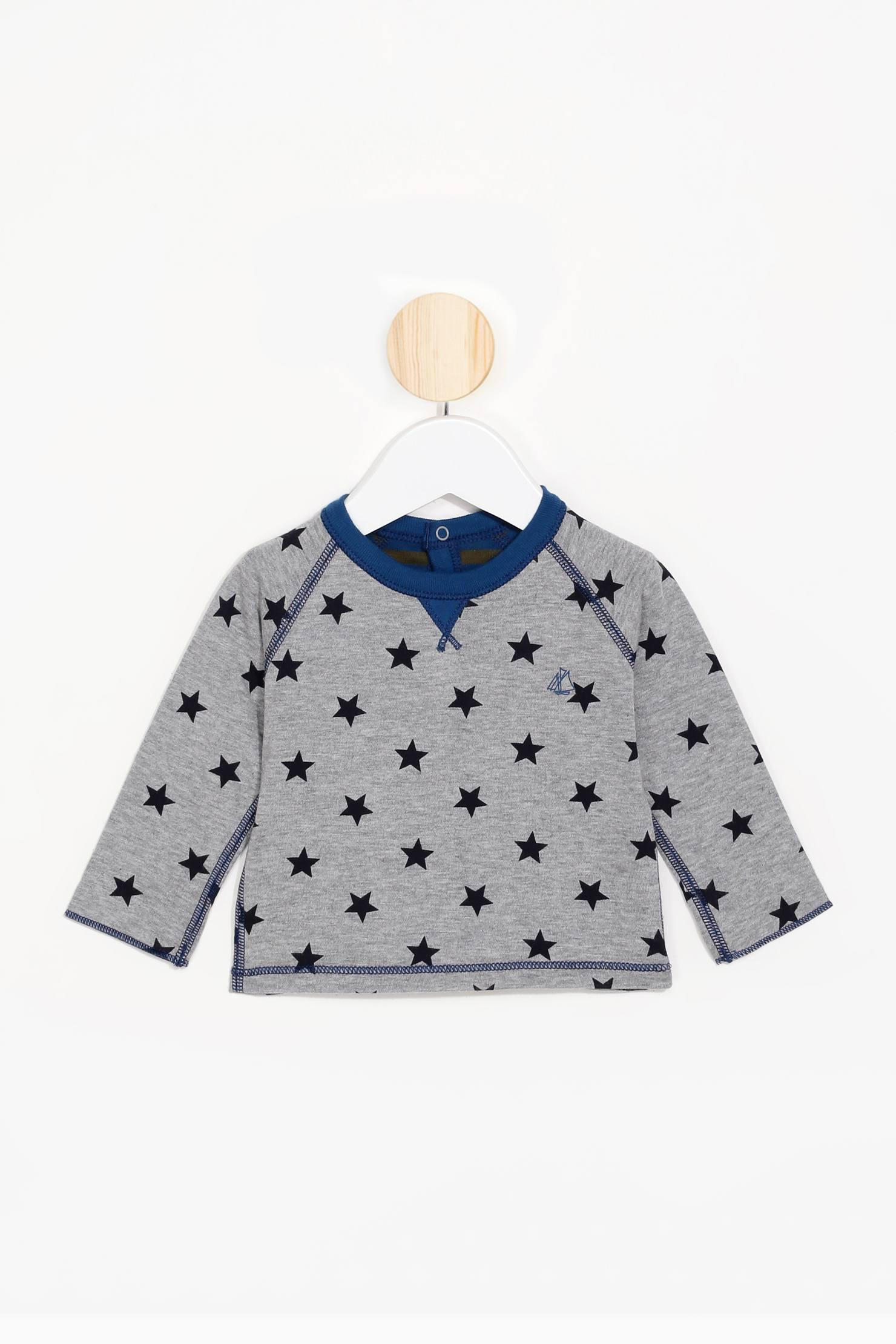 lyst petit bateau sweatshirts sweaters in gray. Black Bedroom Furniture Sets. Home Design Ideas