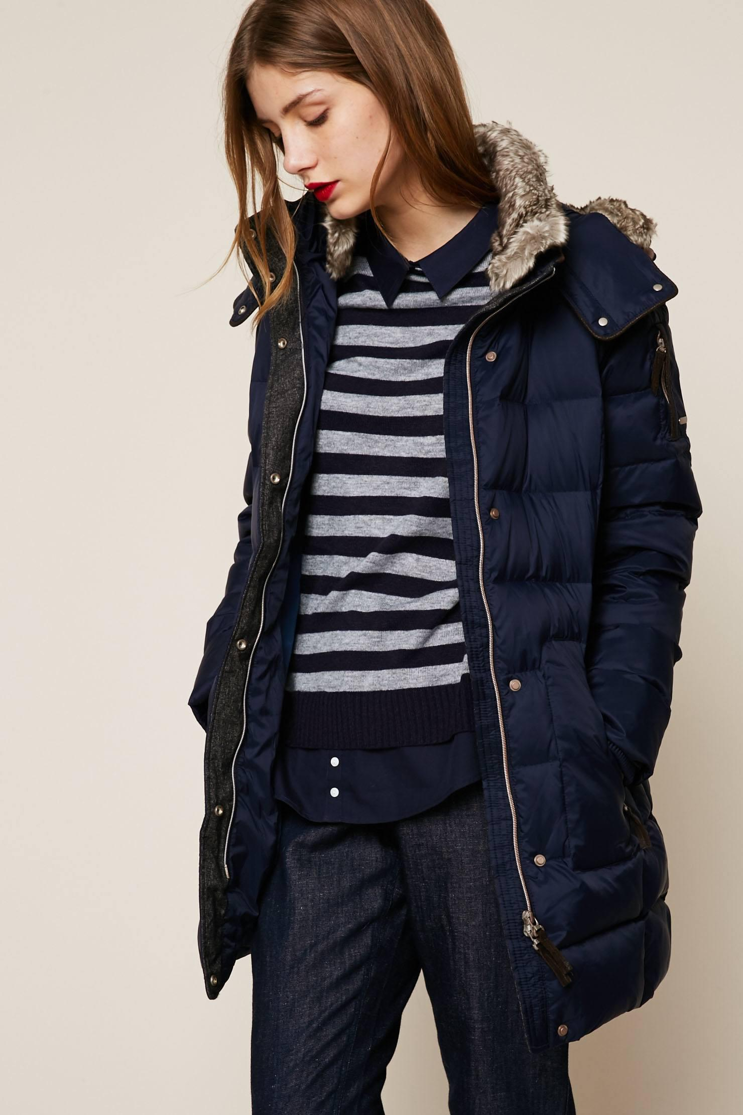 Lyst Esprit Quilted Jacket In Blue