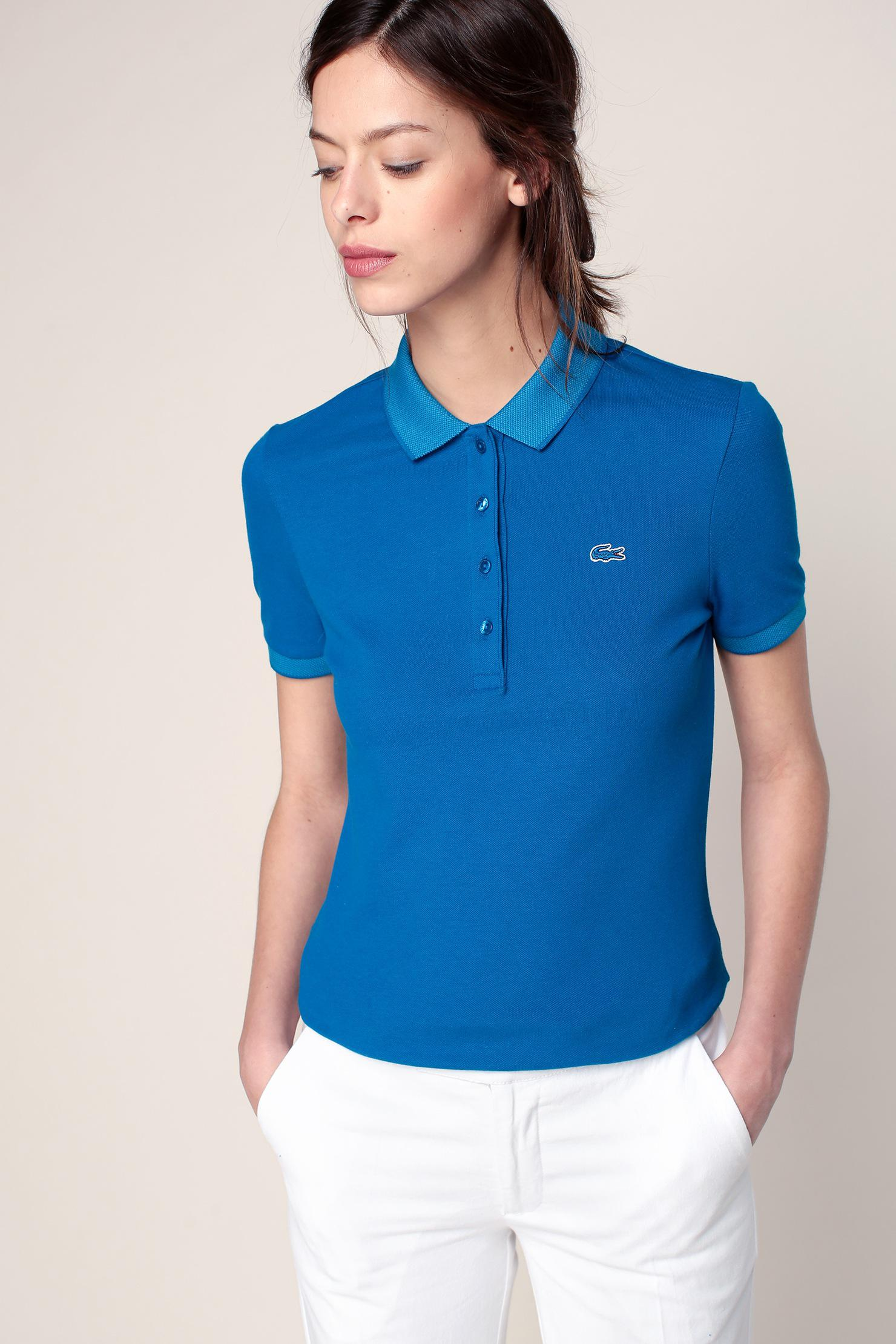 Lyst lacoste t shirts polo shirts in blue - Lacoste poloshirt weiay ...