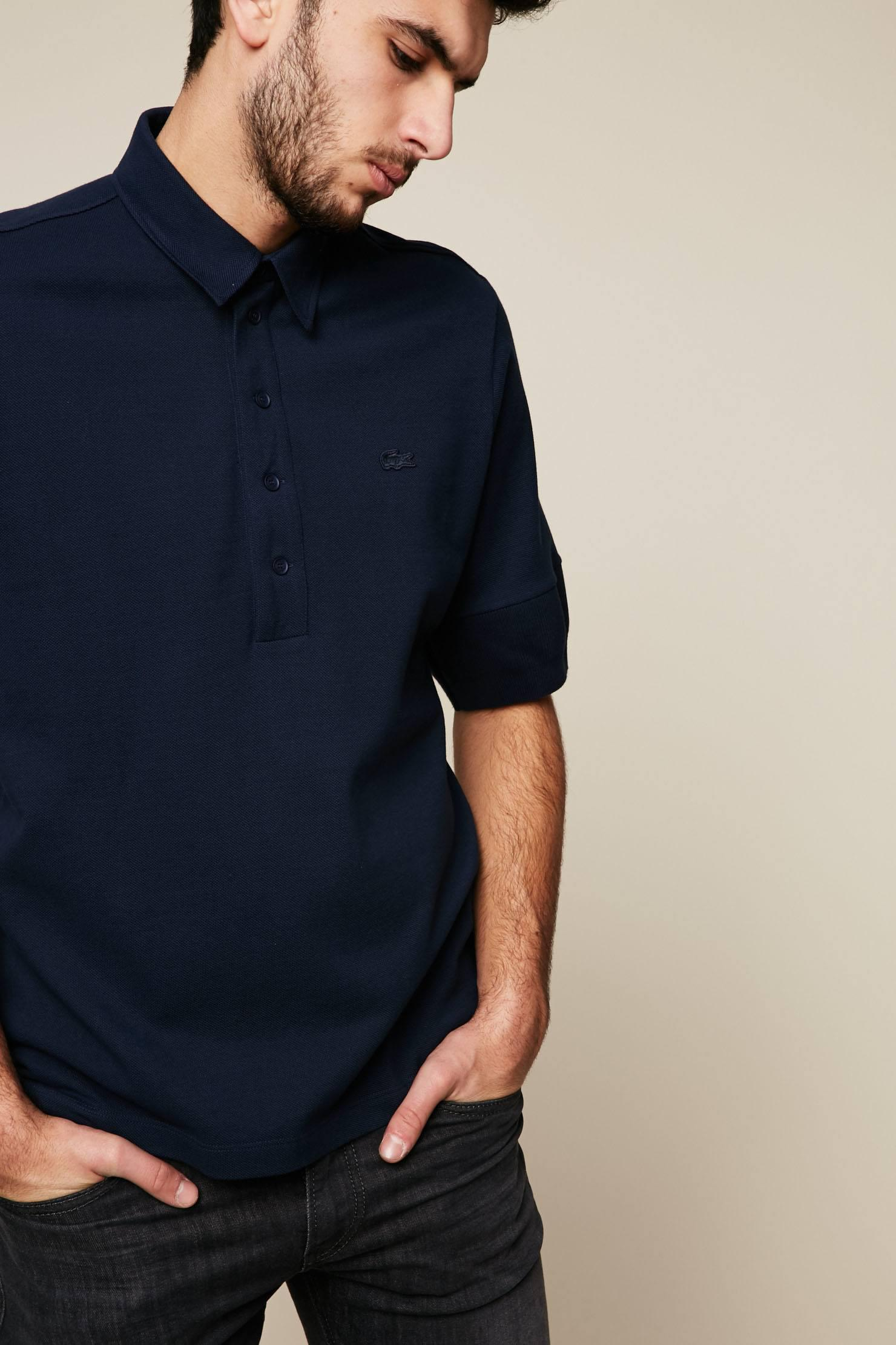 Lyst lacoste polo shirt in blue for men for Boys lacoste polo shirt