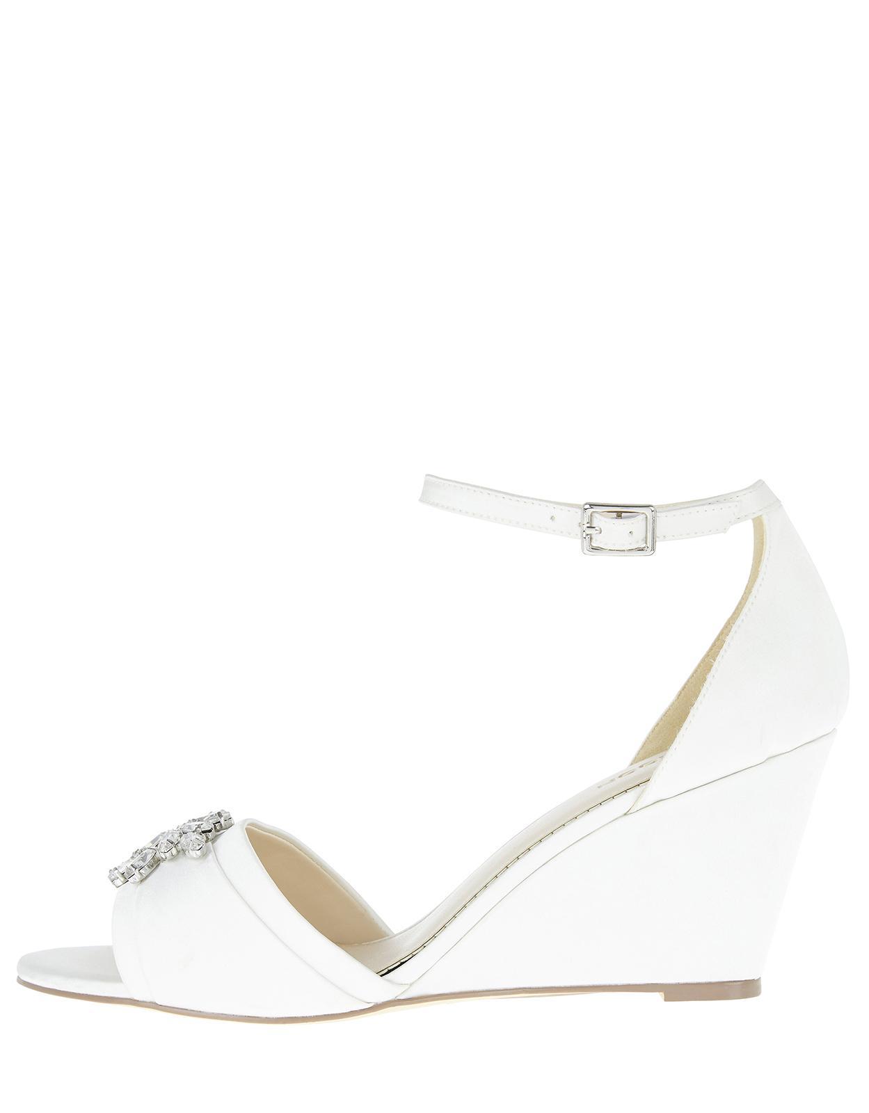 feac1f4bfefb1b Monsoon Diana Diamante Jewel Wedge Heels in White - Lyst