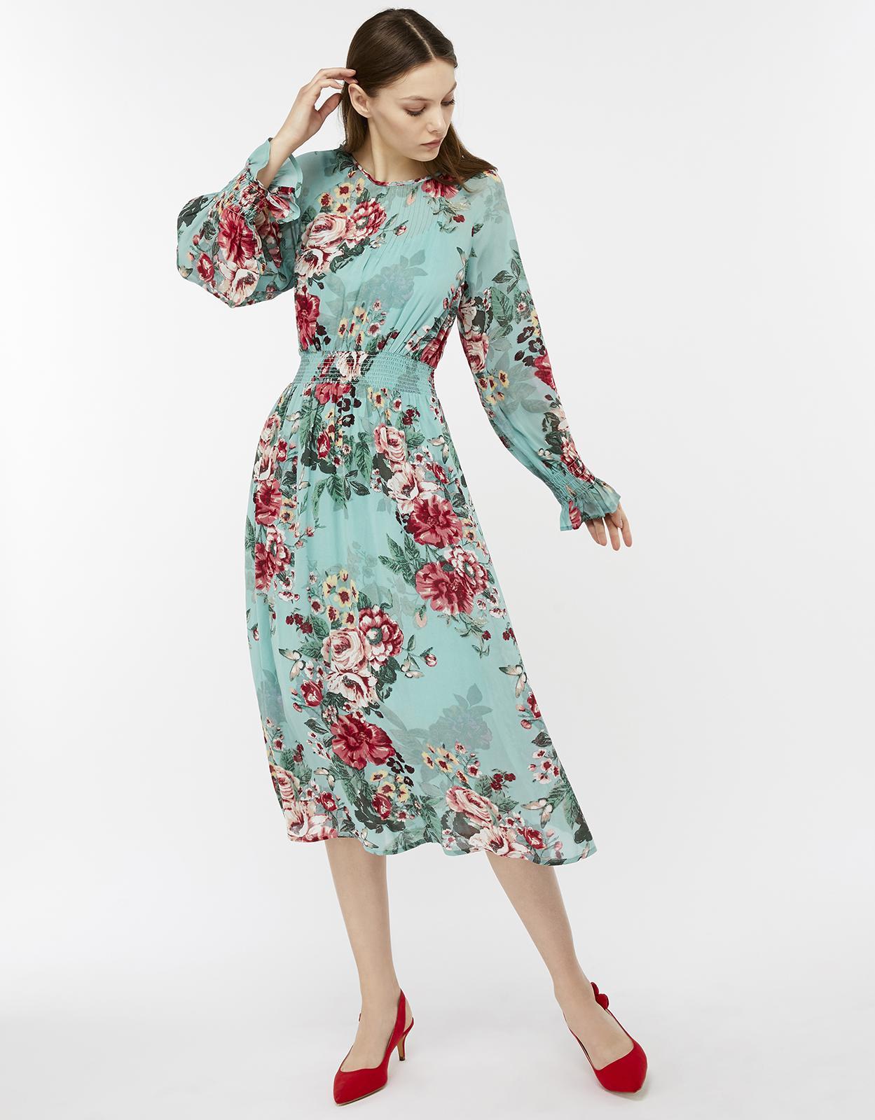 Monsoon Hollie Statement Print Dress - Lyst