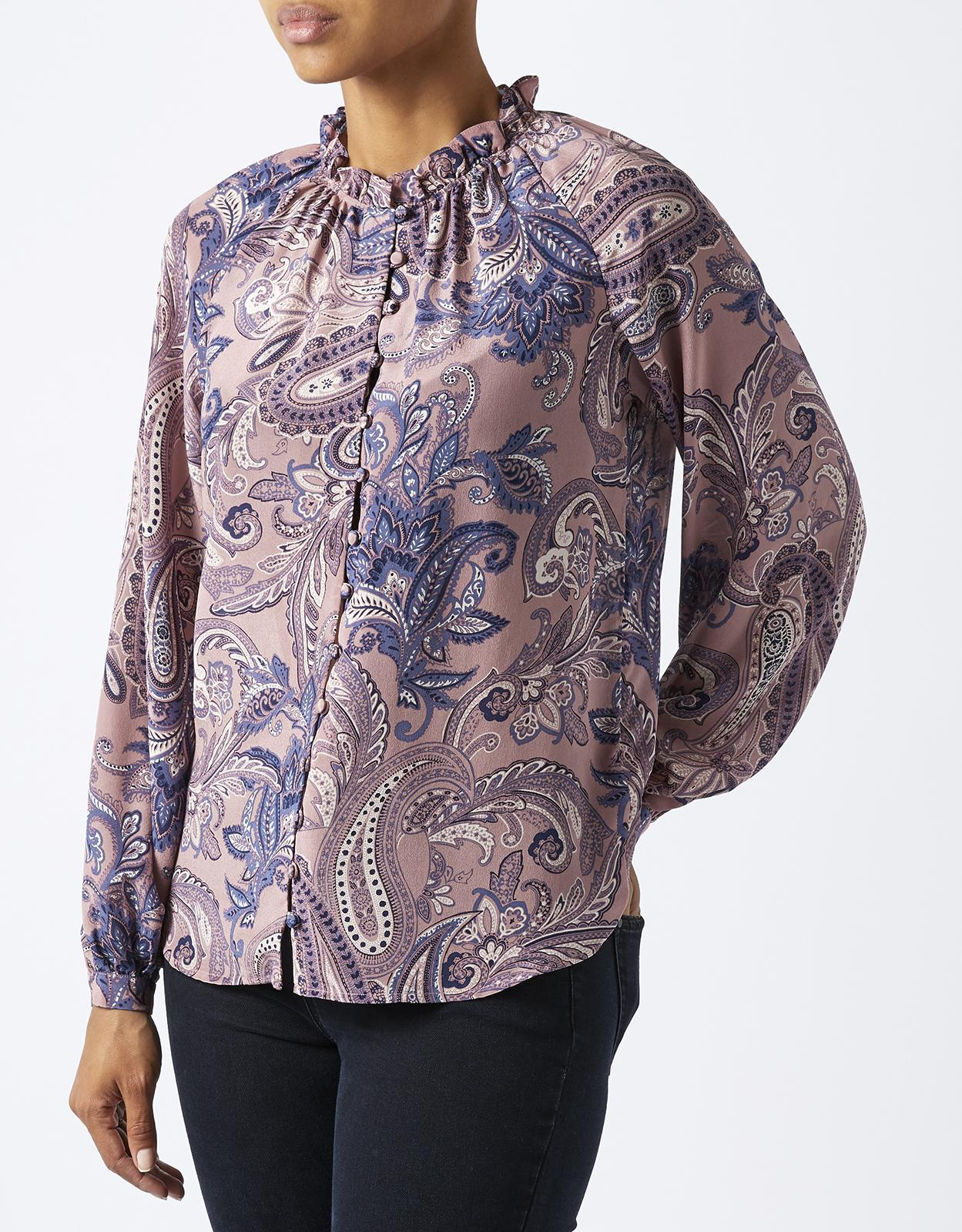 Monsoon Lyra Cosmic Paisley Silk Blouse