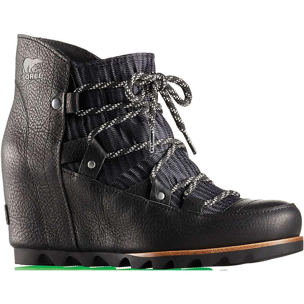 05a32166d Sorel Sandy Wedge Boot in Black - Lyst