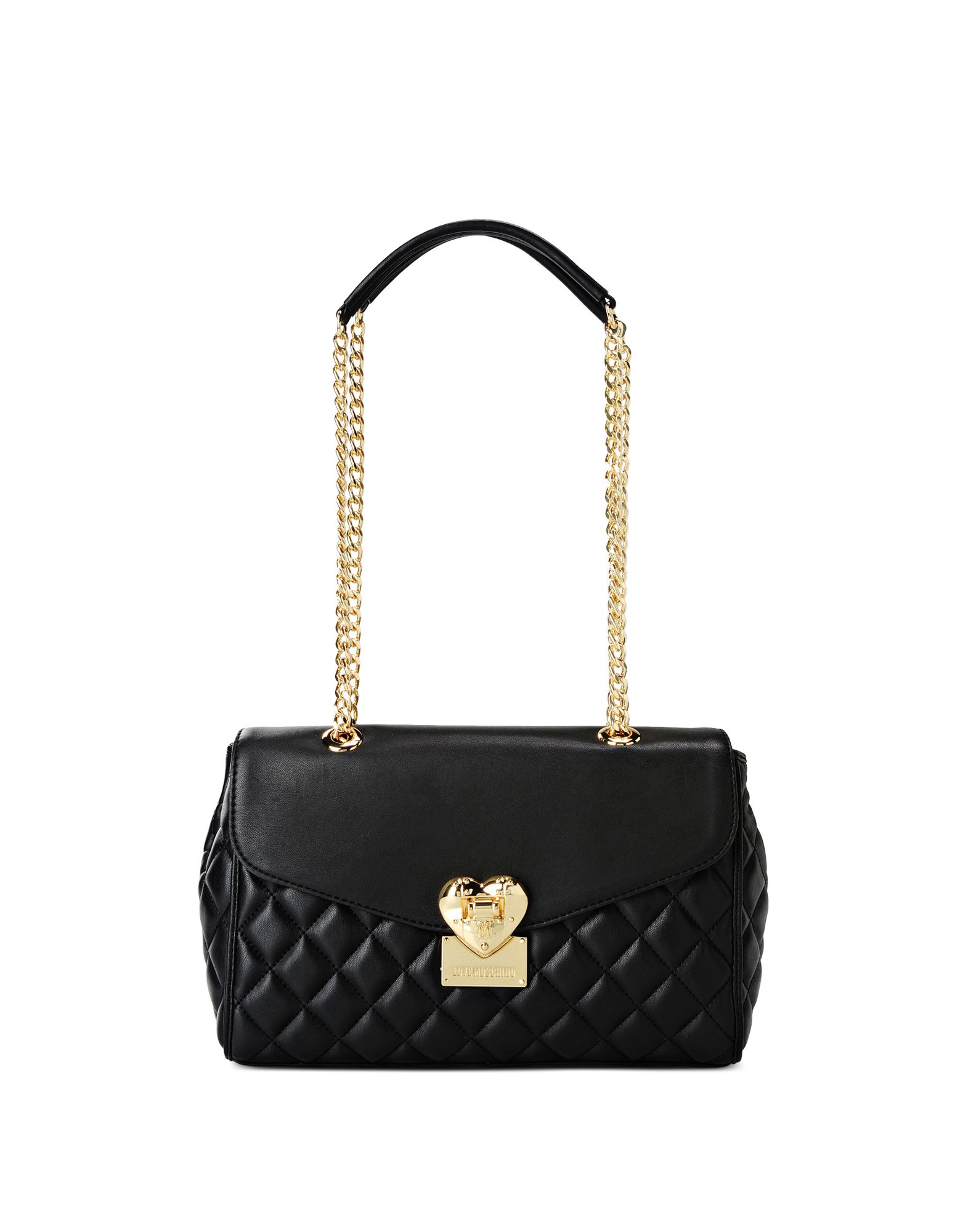 love moschino shoulder bag in black lyst. Black Bedroom Furniture Sets. Home Design Ideas
