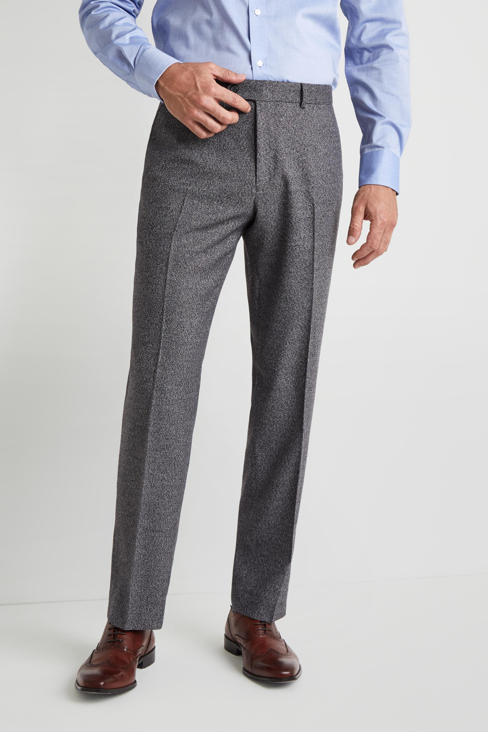 30da7102673f4 Moss Esq. Regular Fit Charcoal Puppytooth Trousers in Gray for Men ...