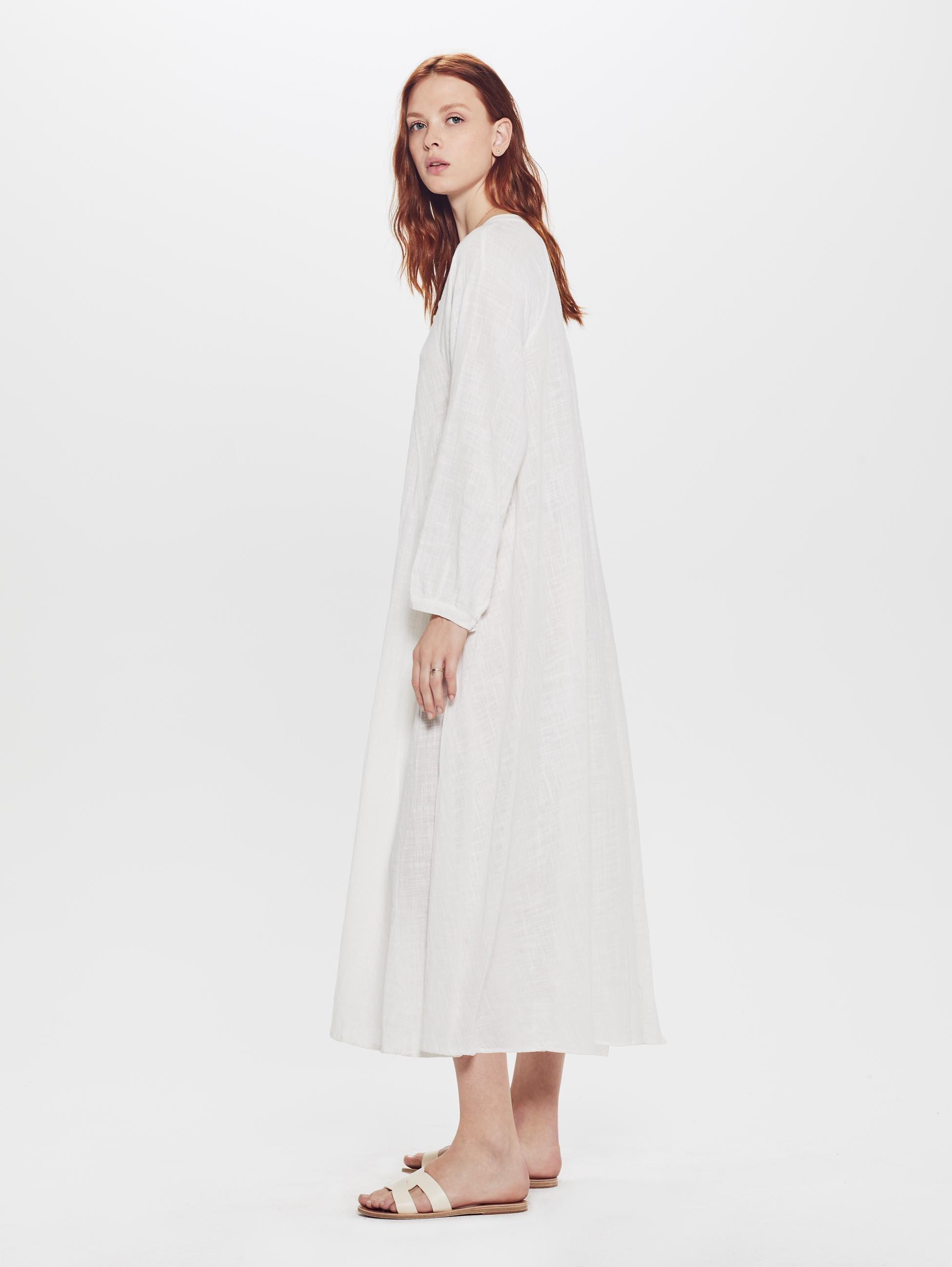 141b98a69aa Natalie Martin Fiore Maxi Cotton Gauze Dress White in White - Lyst
