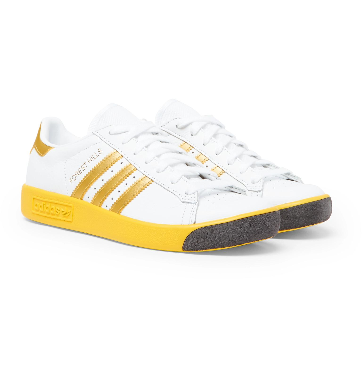 e5c704f36aaeb ... cheap adidas originals. mens white forest hills leather and mesh  trainers eca8f 16923
