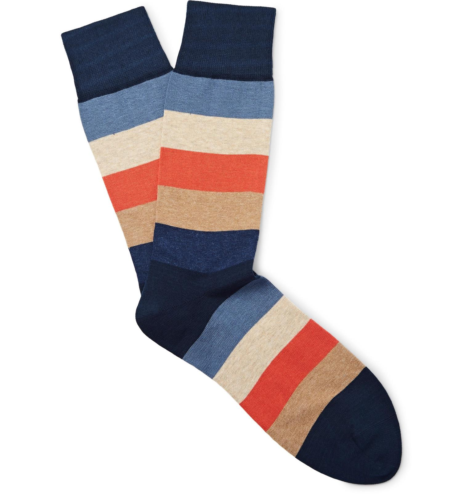 Three-pack Striped Cotton-blend No-show Socks Corgi Best Online Best Place Discount For Sale To Buy aegVm7PwPo