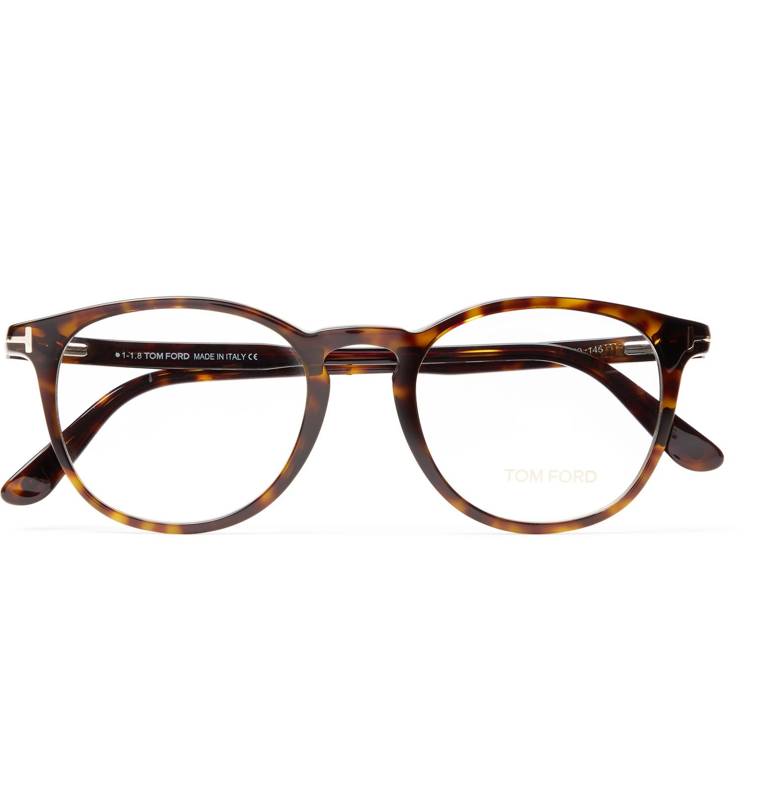 e97c4f59e439 Tom Ford - Brown Round-frame Tortoiseshell Acetate Optical Glasses for Men  - Lyst. View fullscreen