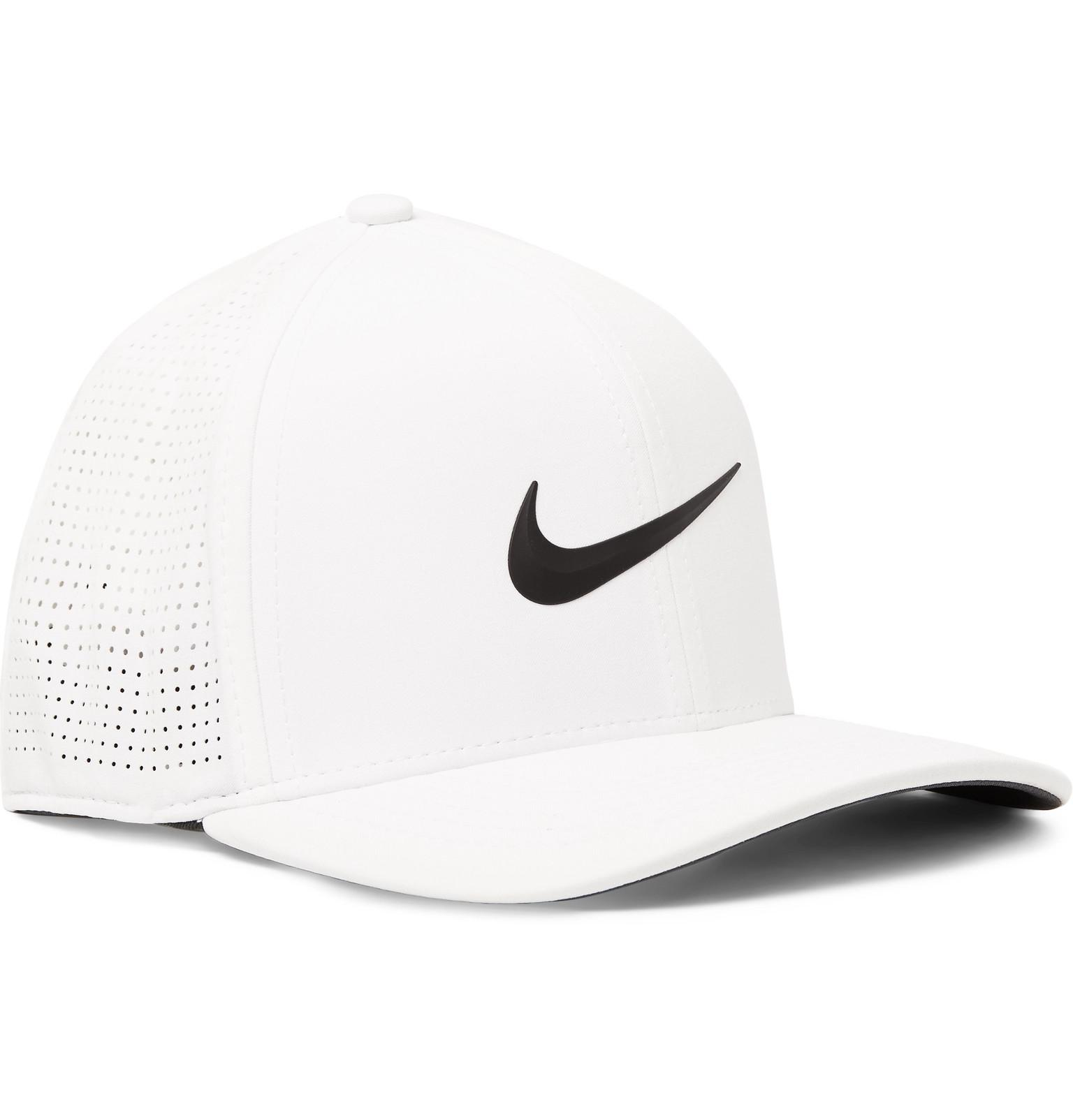 Nike Aerobill Classic 99 Perforated Dri-fit Golf Cap in White for ... f2c9bd318188