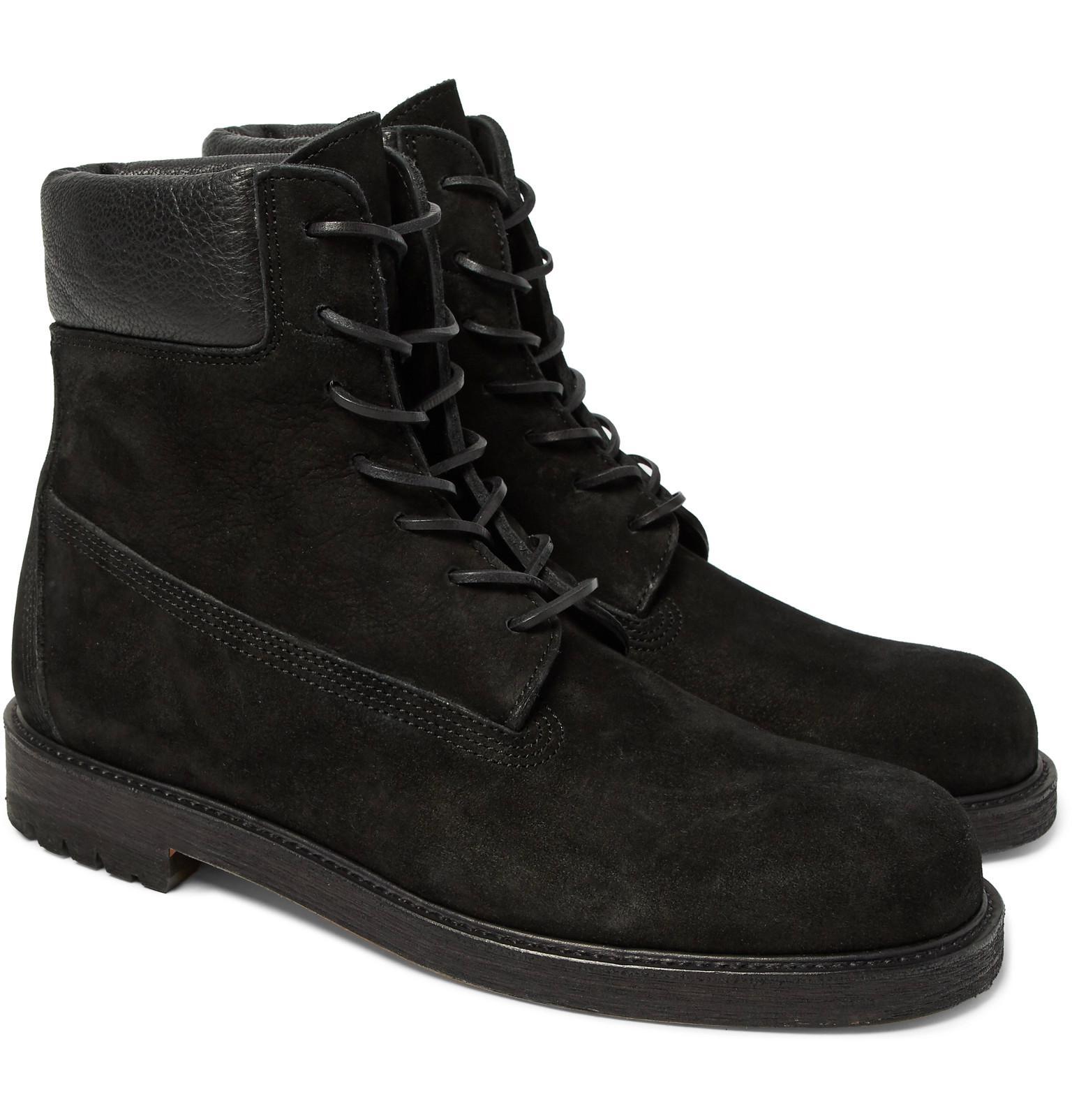 Vente Meilleur Endroit HENDER SCHEME Mip-14 Leather-trimmed Suede Boots - Black Vente Pas Cher Grande Vente Grosses Soldes Prix Incroyable Vente En Ligne Collections De Dédouanement iweGrw7vg