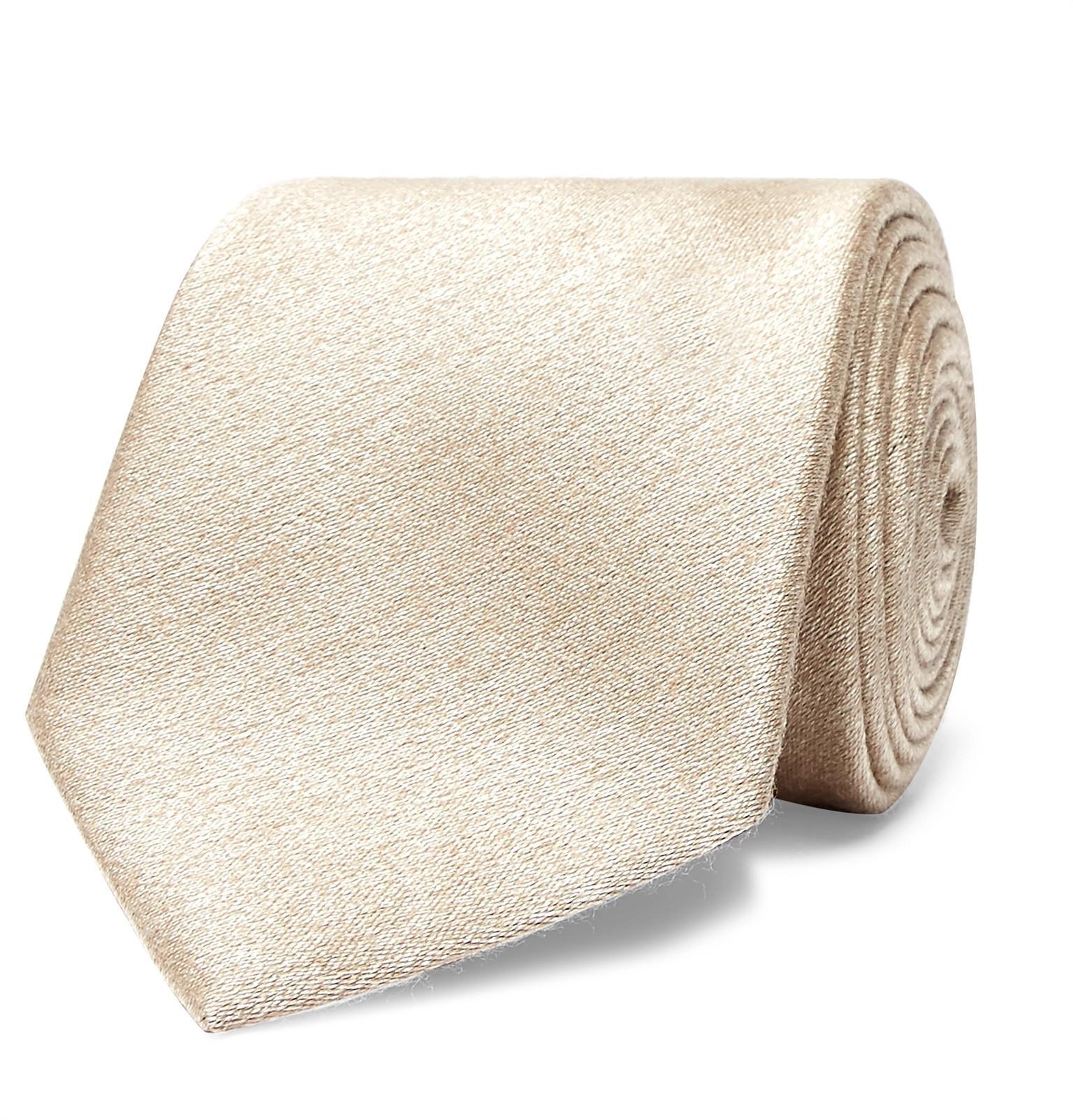8cm Slub Silk And Wool-blend Tie Brioni q1c1eAGqt
