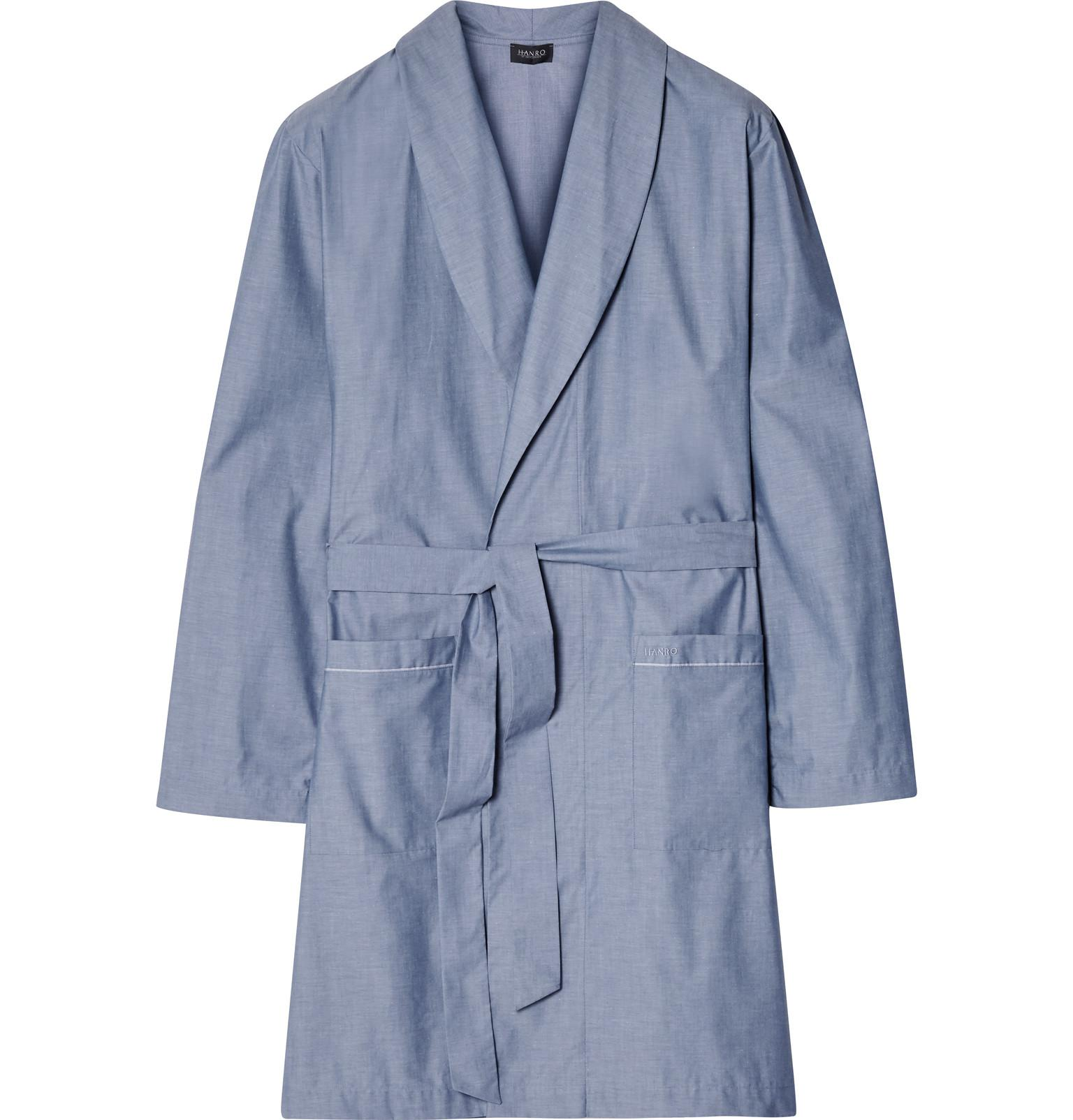 7c69ad55f4 Lyst - Hanro Javier Cotton Robe in Blue for Men