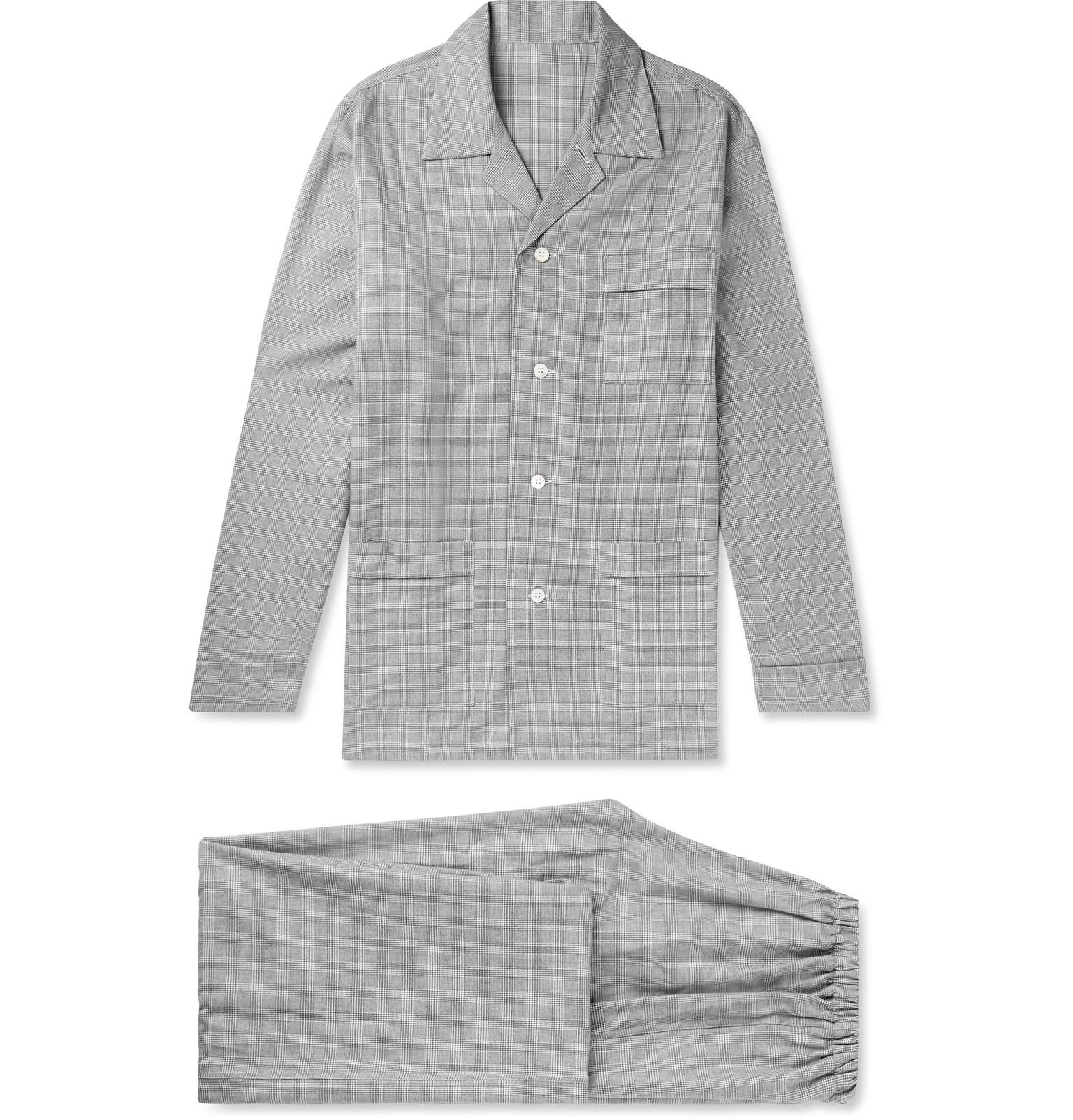 Prince Of Wales Checked Brushed-cotton Pyjama Set Anderson & Sheppard Cheap 100% Authentic qKQVpV2zJB