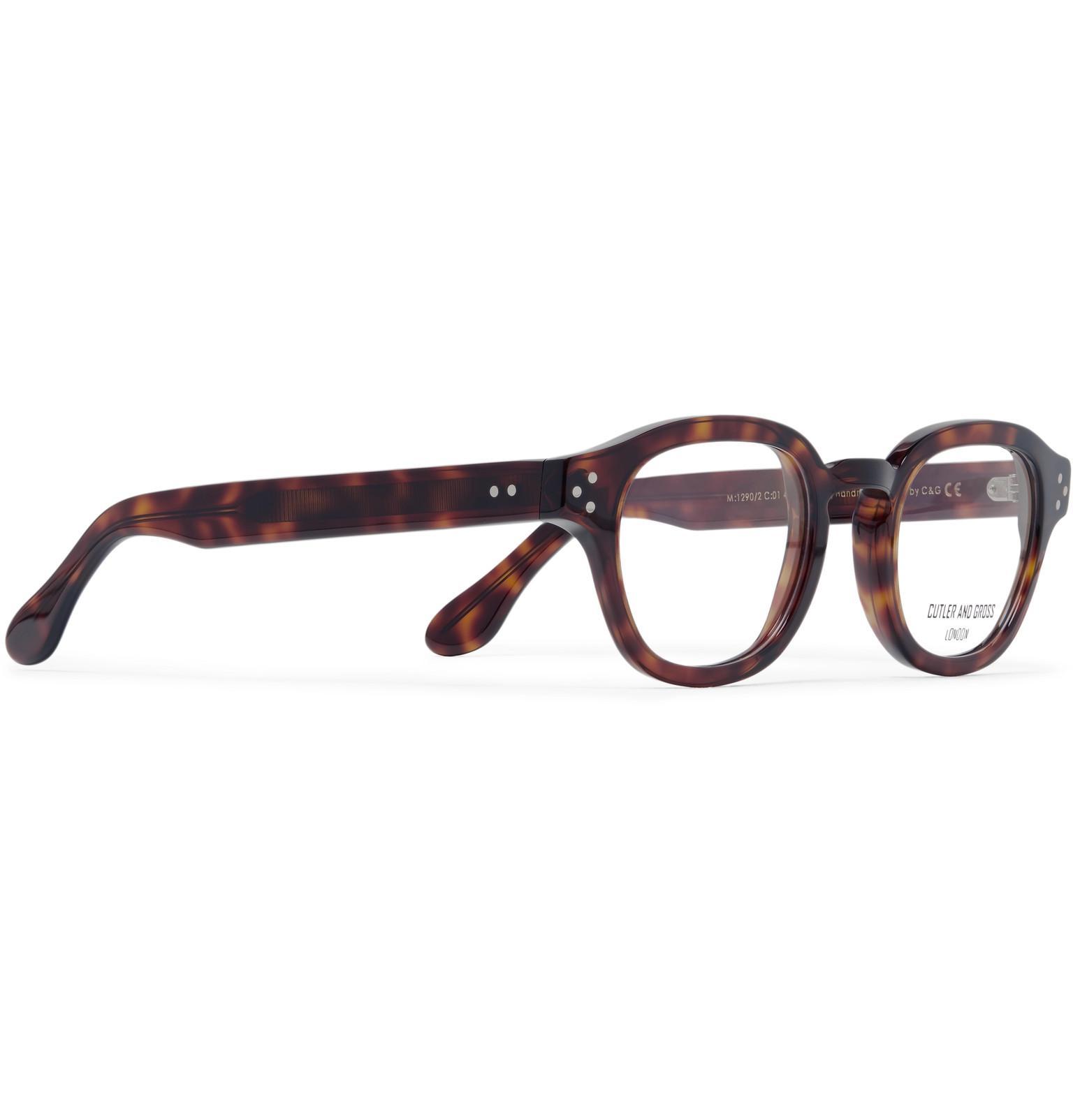 cf3afd6d7 Cutler & Gross - Brown Round-frame Tortoiseshell Acetate Optical Glasses  for Men - Lyst. View fullscreen