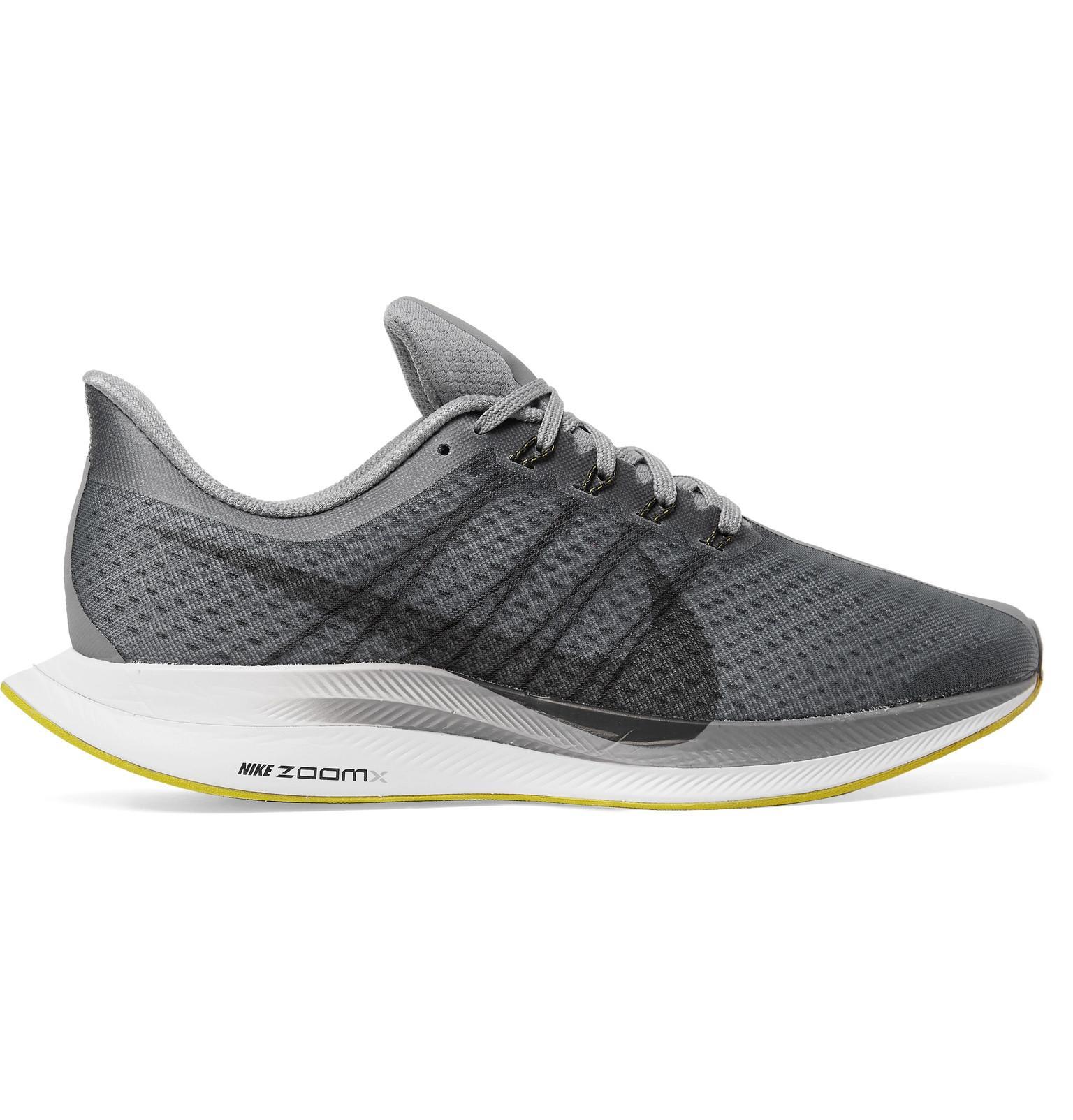 9f82cb8befab Nike Nike Air Zoom Pegasus 35 Turbo Mesh Sneakers in Gray for Men - Lyst