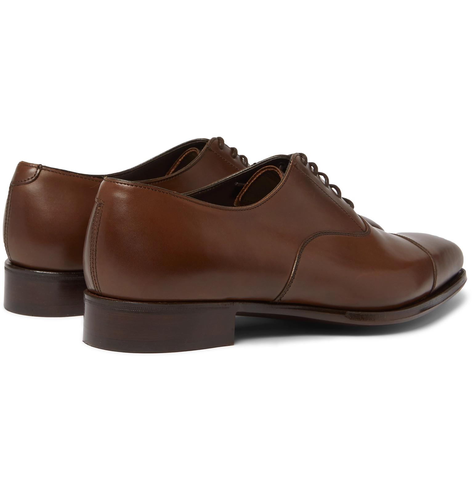 7d6fac85e8025f Lyst - Kingsman + George Cleverley Harry Leather Oxford Shoes in ...