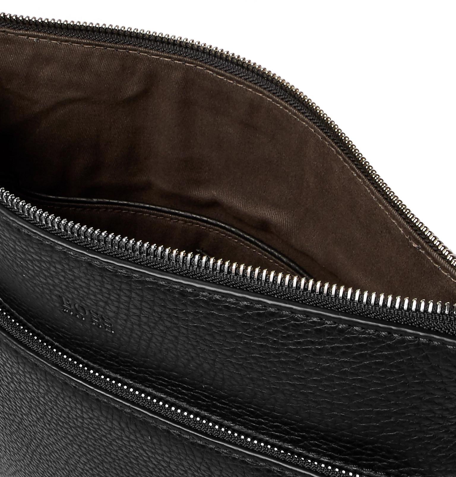 Full Grain Leather Messenger Bag For Men Lyst View Fullscreen