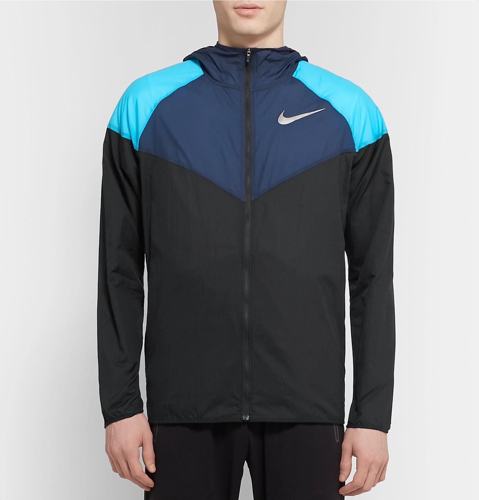 9fef1f51c Nike - Black Windrunner Colour-block Nylon-ripstop Hooded Jacket for Men -  Lyst. View fullscreen