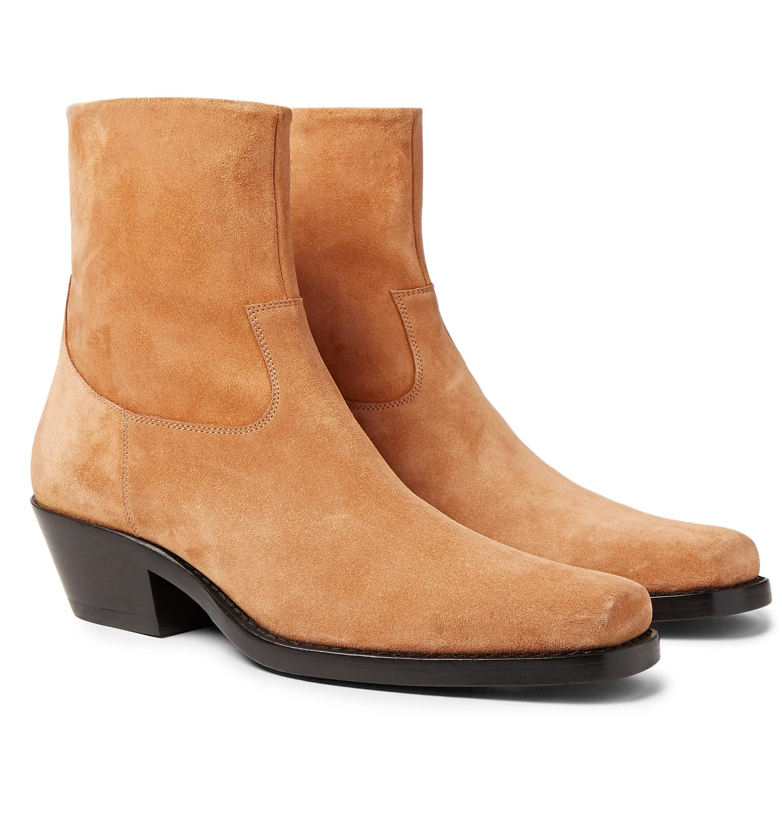 b7ca53201270 CALVIN KLEIN 205W39NYC Western Tod Suede Boots in Brown for Men - Lyst