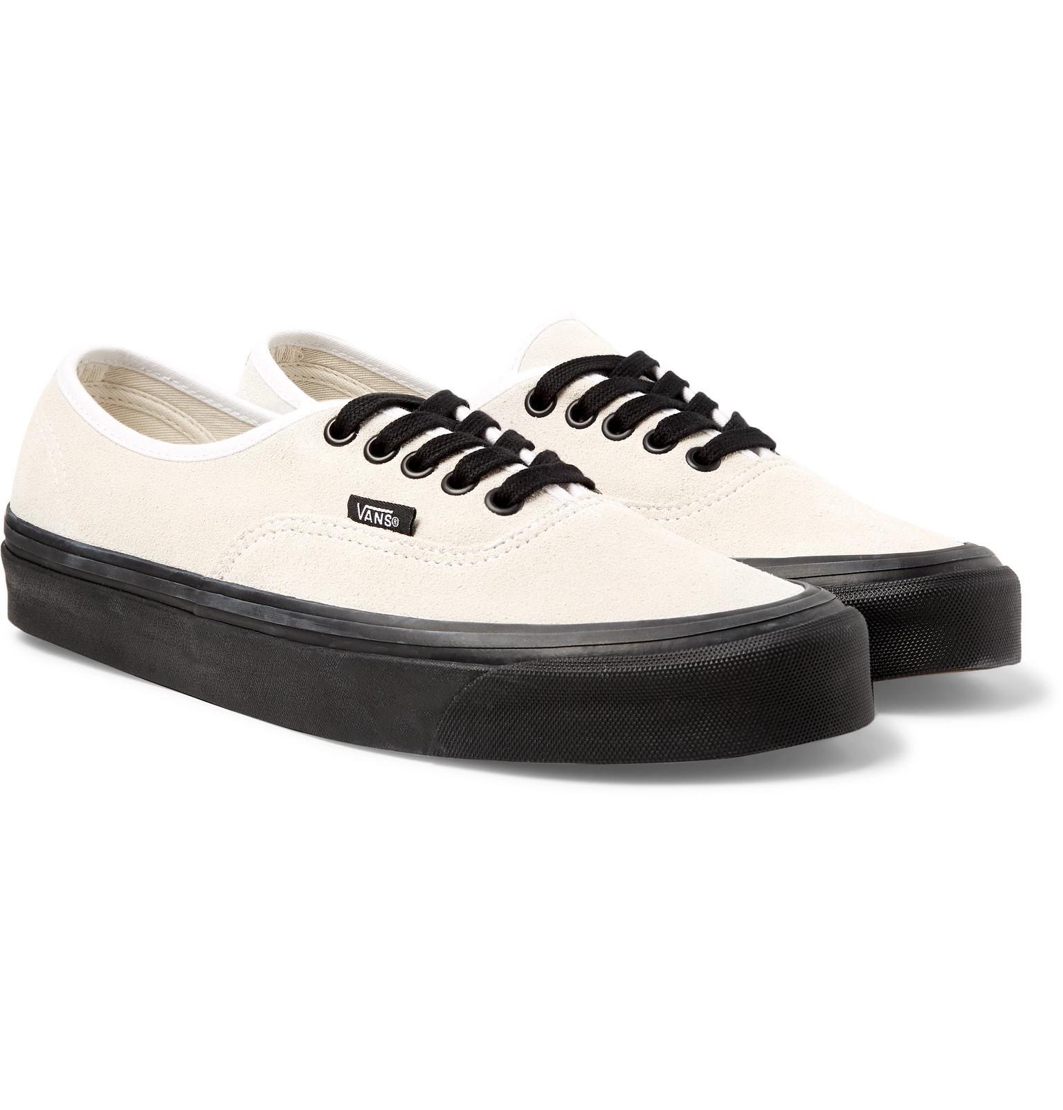 Lyst - Vans Anaheim Authentic 44 Dx Suede Sneakers in White for Men d80d59c0c