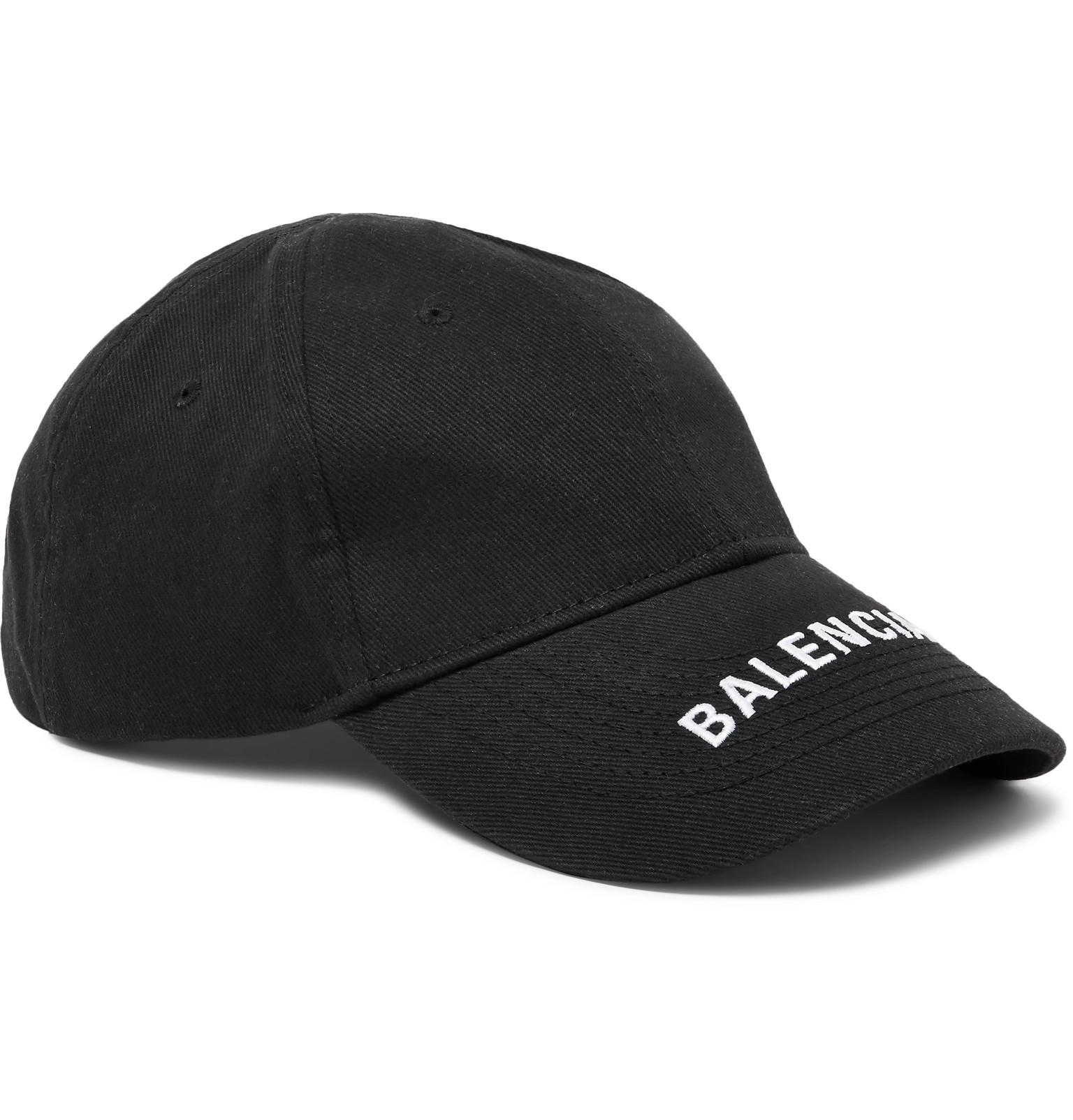 6a4af087d76f7 Lyst - Balenciaga Logo-embroidered Cotton-twill Baseball Cap in ...