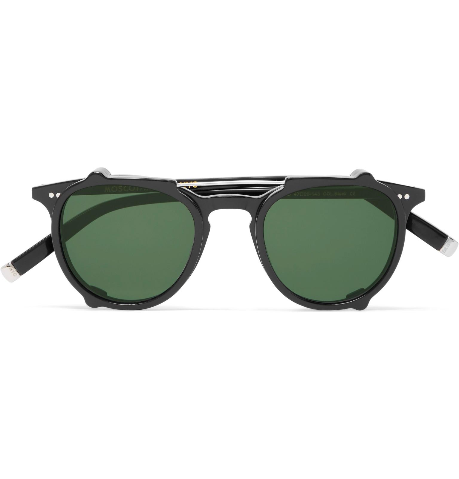 7fb423ebc8f Lyst - Moscot Jared Round-frame Acetate Optical Glasses With Clip-on ...