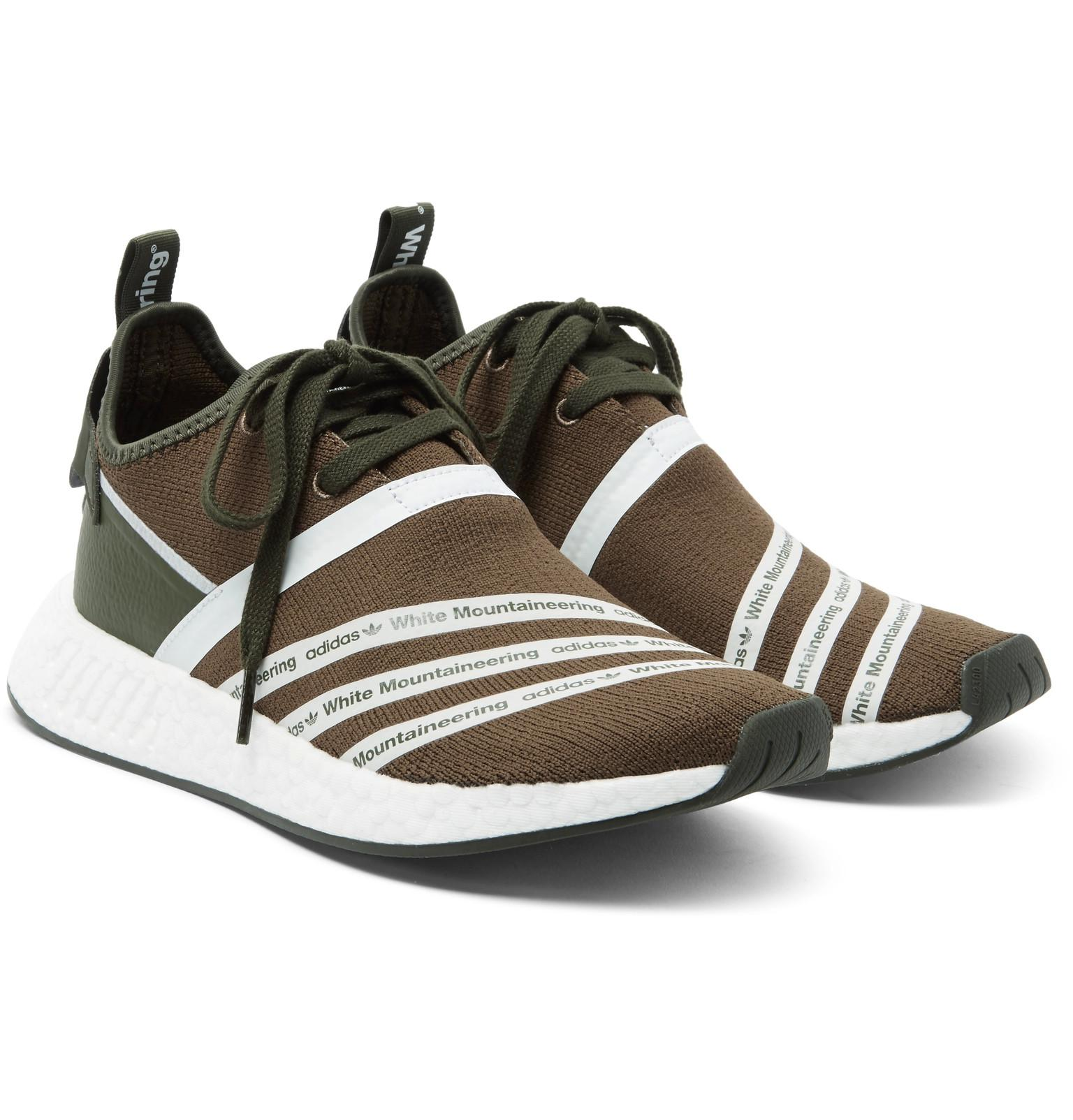 35d9116f7 adidas Originals White Mountaineering Nmd R2 Primeknit Sneakers for ...