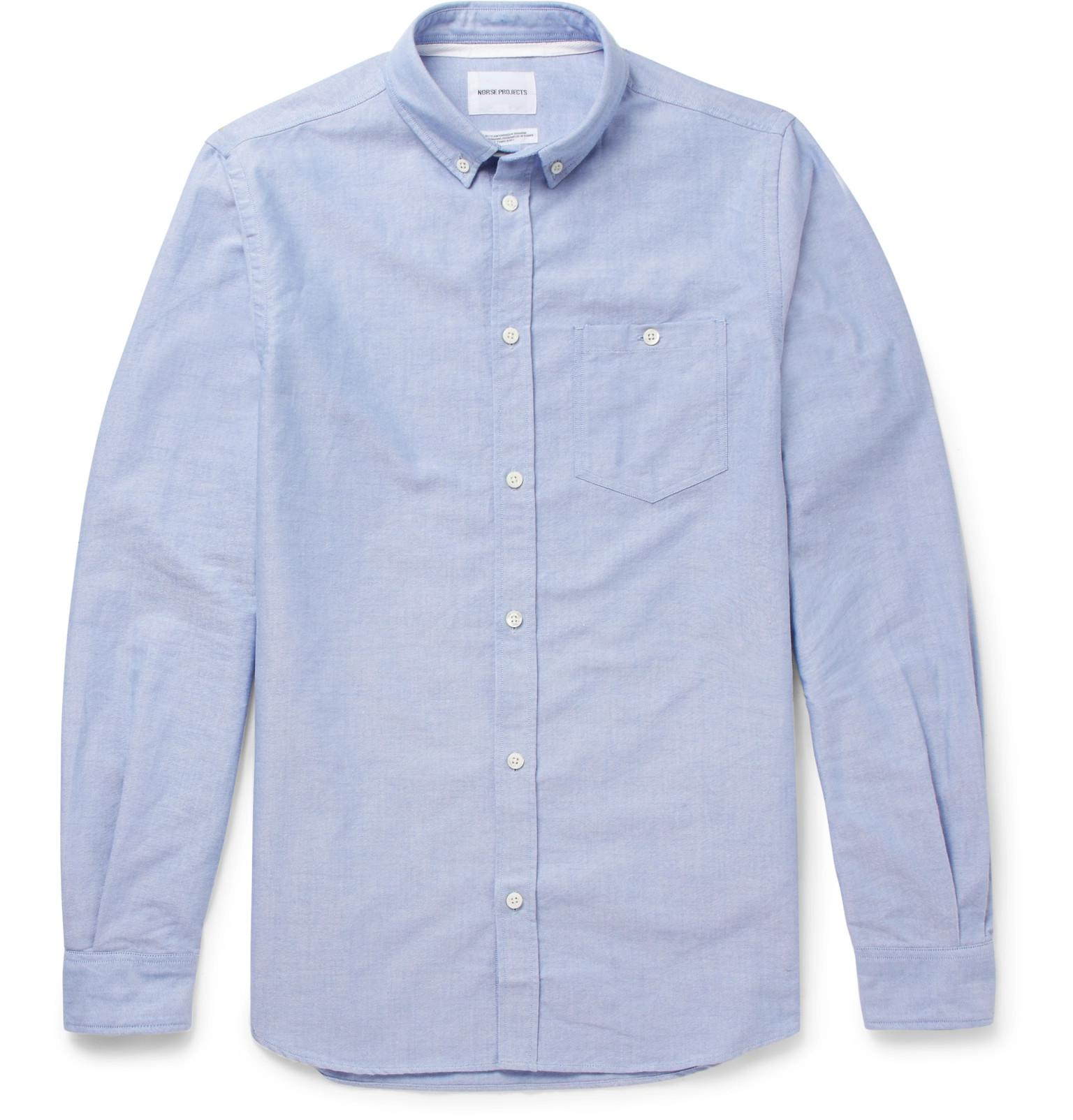 23f9ef432 Norse Projects - Blue Anton Button-down Collar Cotton Oxford Shirt for Men  - Lyst. View fullscreen