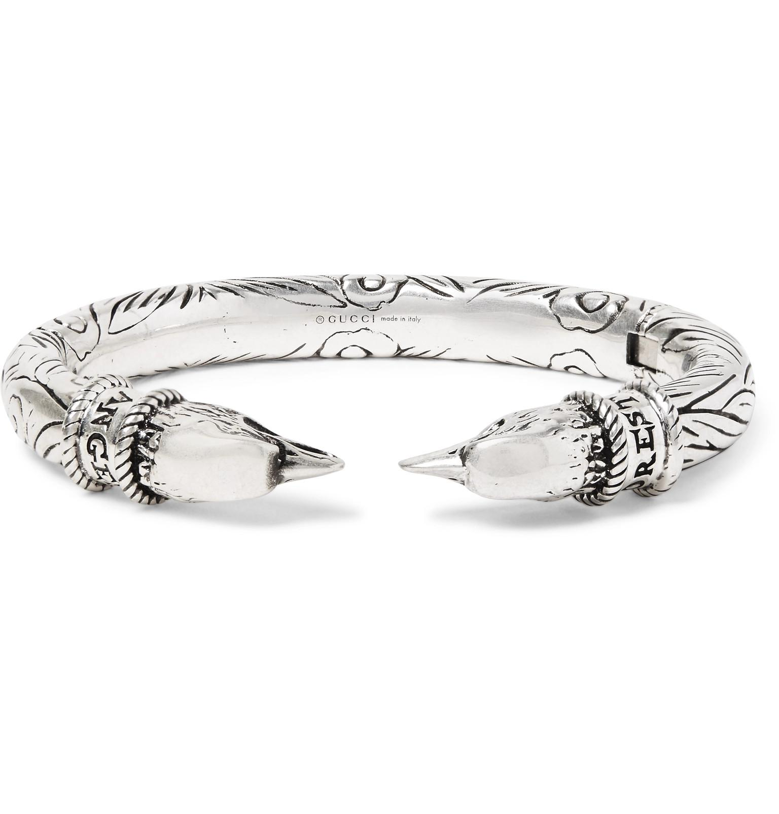 tiger head zirconium bracelet - Metallic Gucci wtAJMza