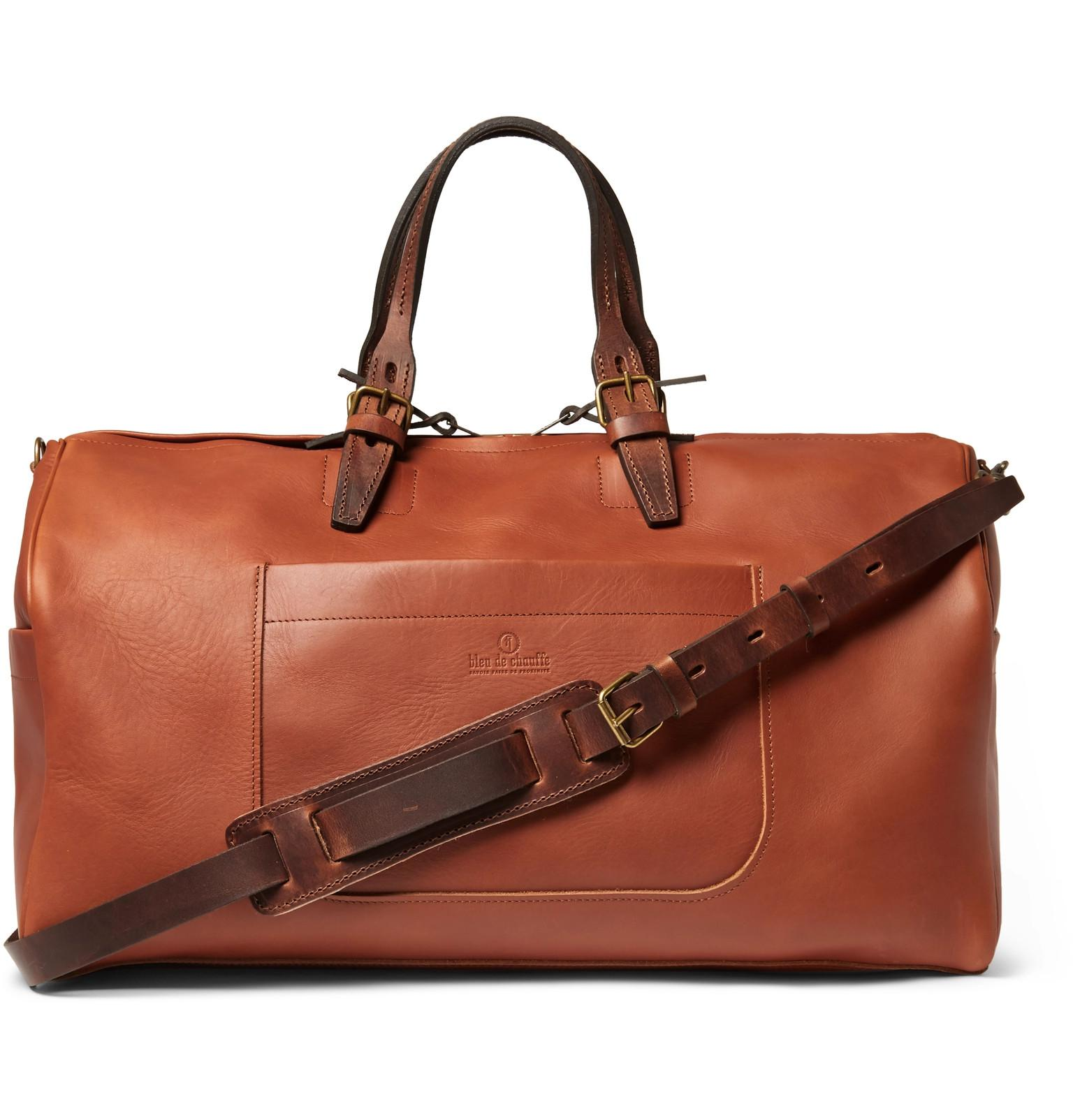 Grain Men Chauffe In Full Bleu Brown Holdall For Leather De Lyst xEqIwvS