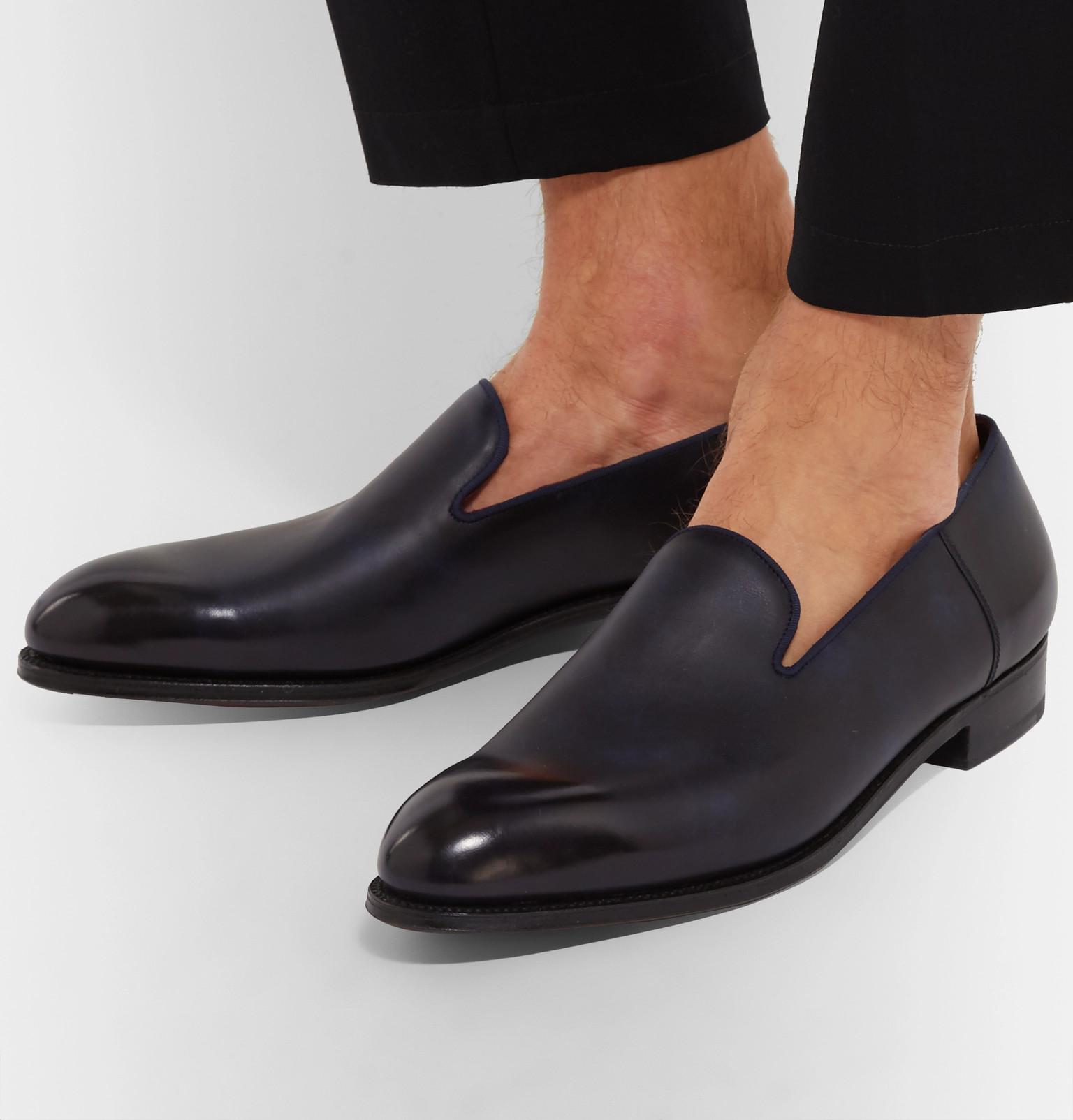 9ab788f42b6 J.M. Weston - Blue Tamponato Leather Loafers for Men - Lyst. View fullscreen