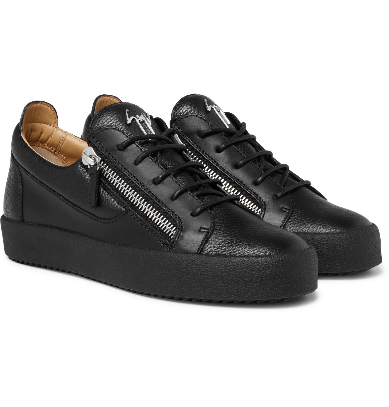 Giuseppe Zanotti Logoball Full Grain Leather Sneakers