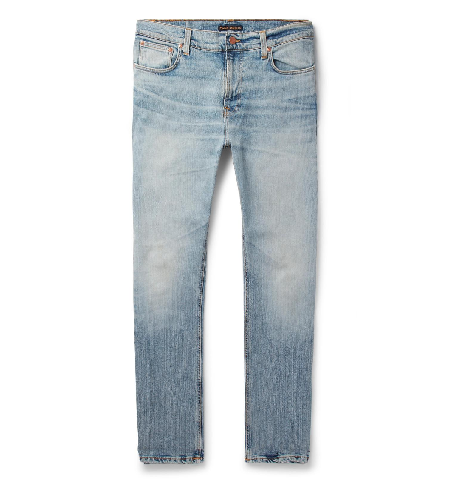 Brute Knut Slim-fit Organic Stretch-denim Jeans Nudie Jeans 7YFz25