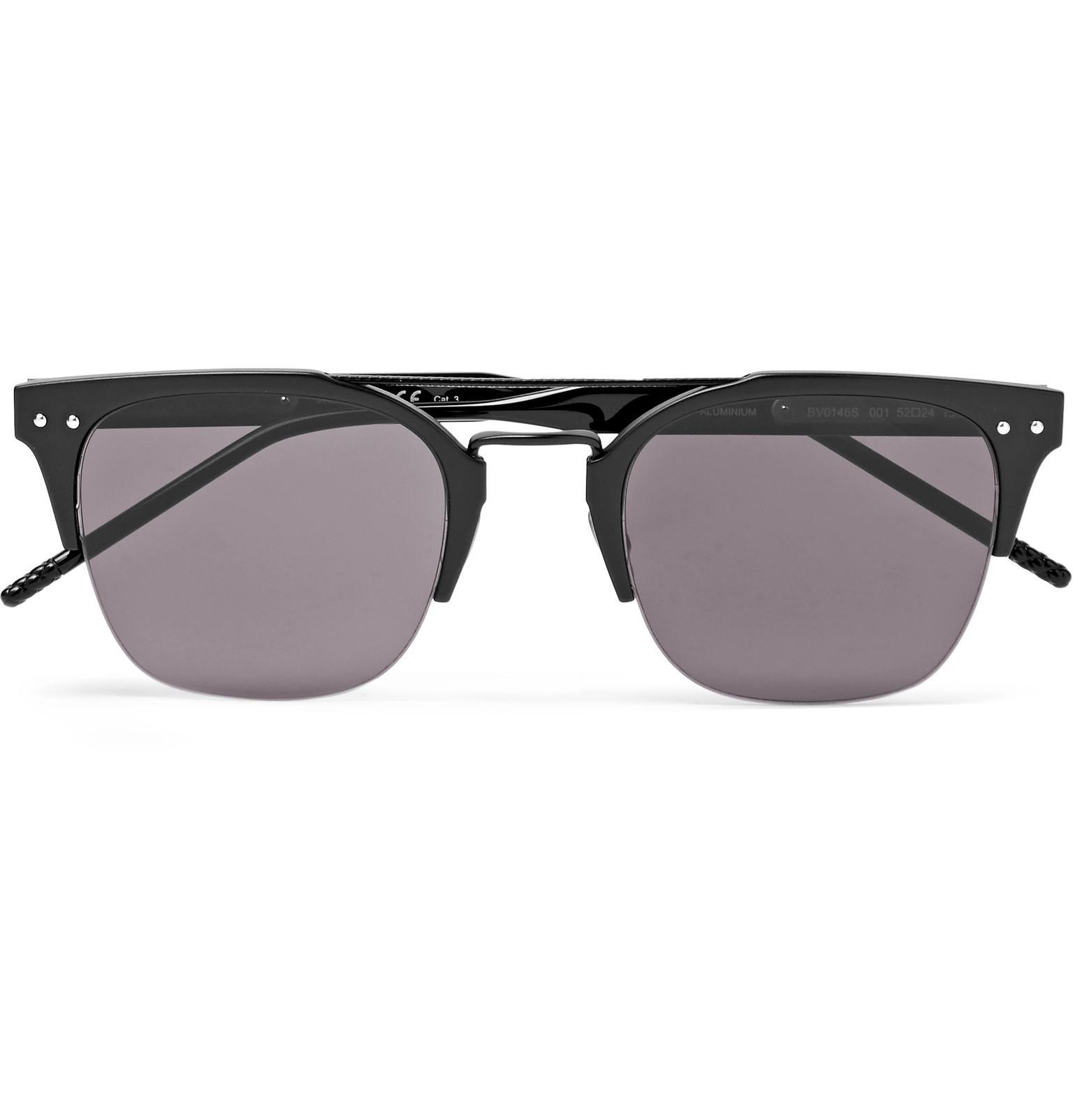Round-frame Coated-aluminium And Acetate Sunglasses Bottega Veneta lpMDuDB8aR
