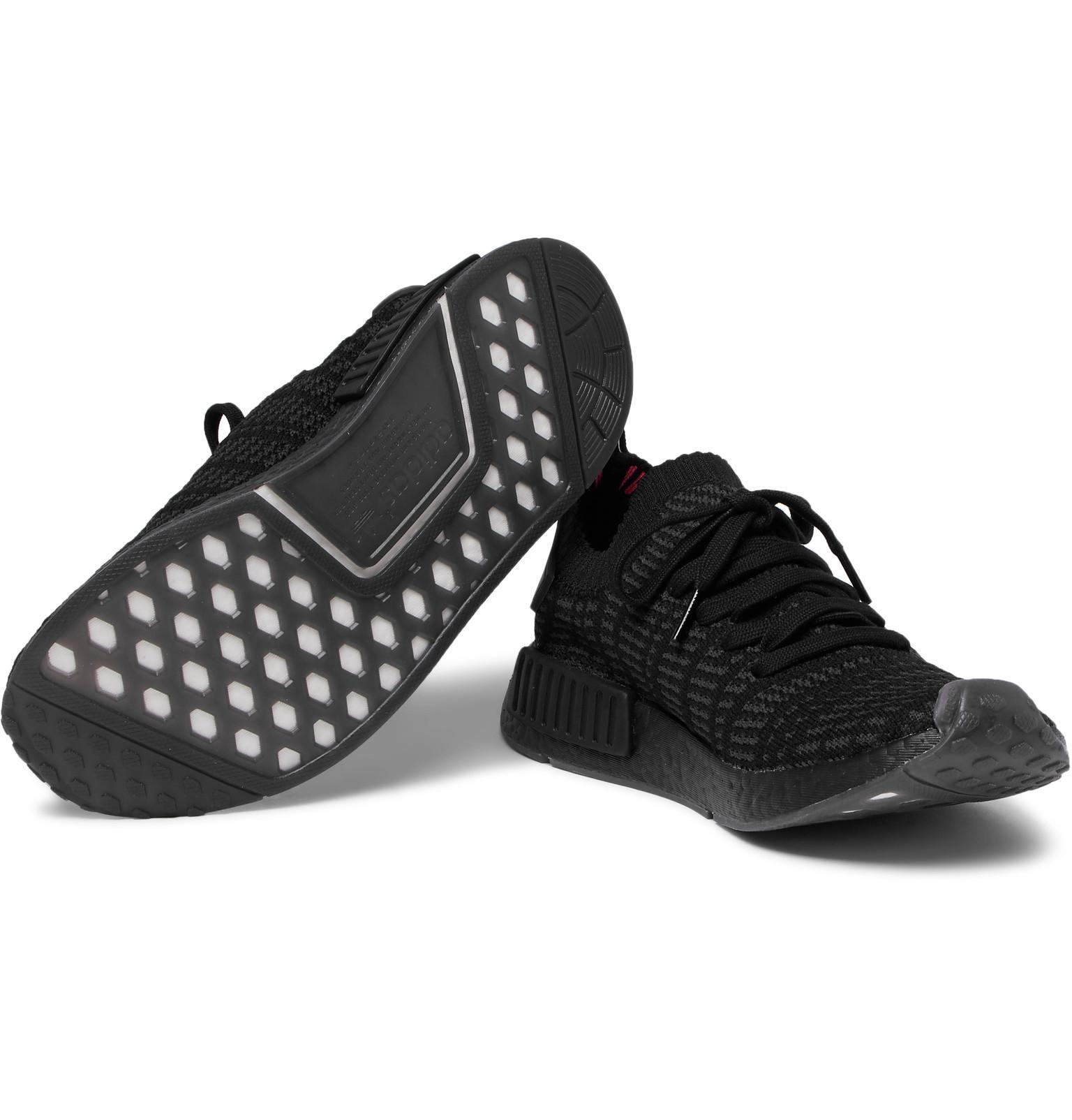 adidas Originals Nmd r1 Stlt Primeknit Sneakers in Black for Men - Lyst b58f1fe59