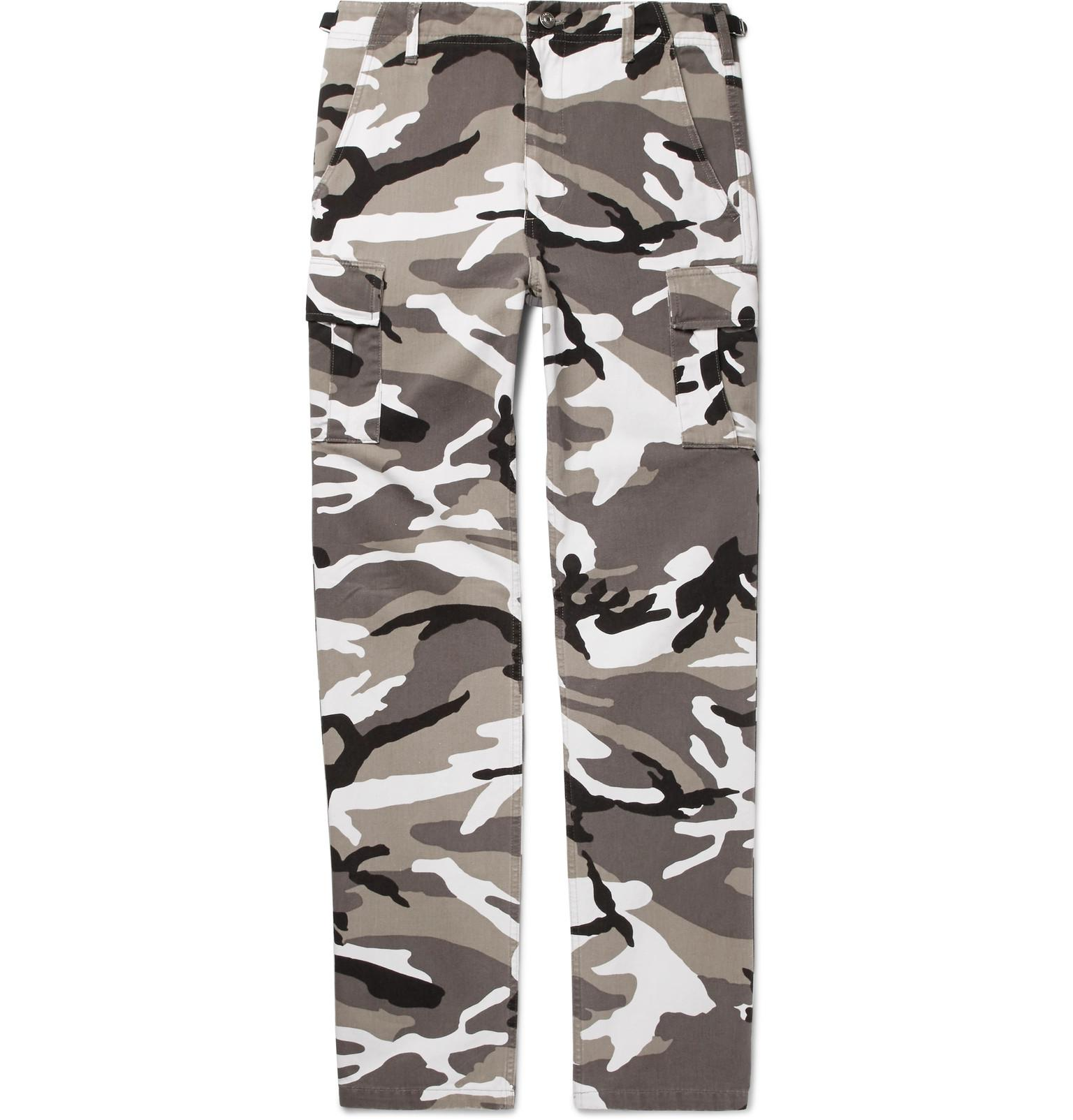 7a791495302c Lyst - Balenciaga Slim-fit Camouflage-print Cotton-twill Cargo ...