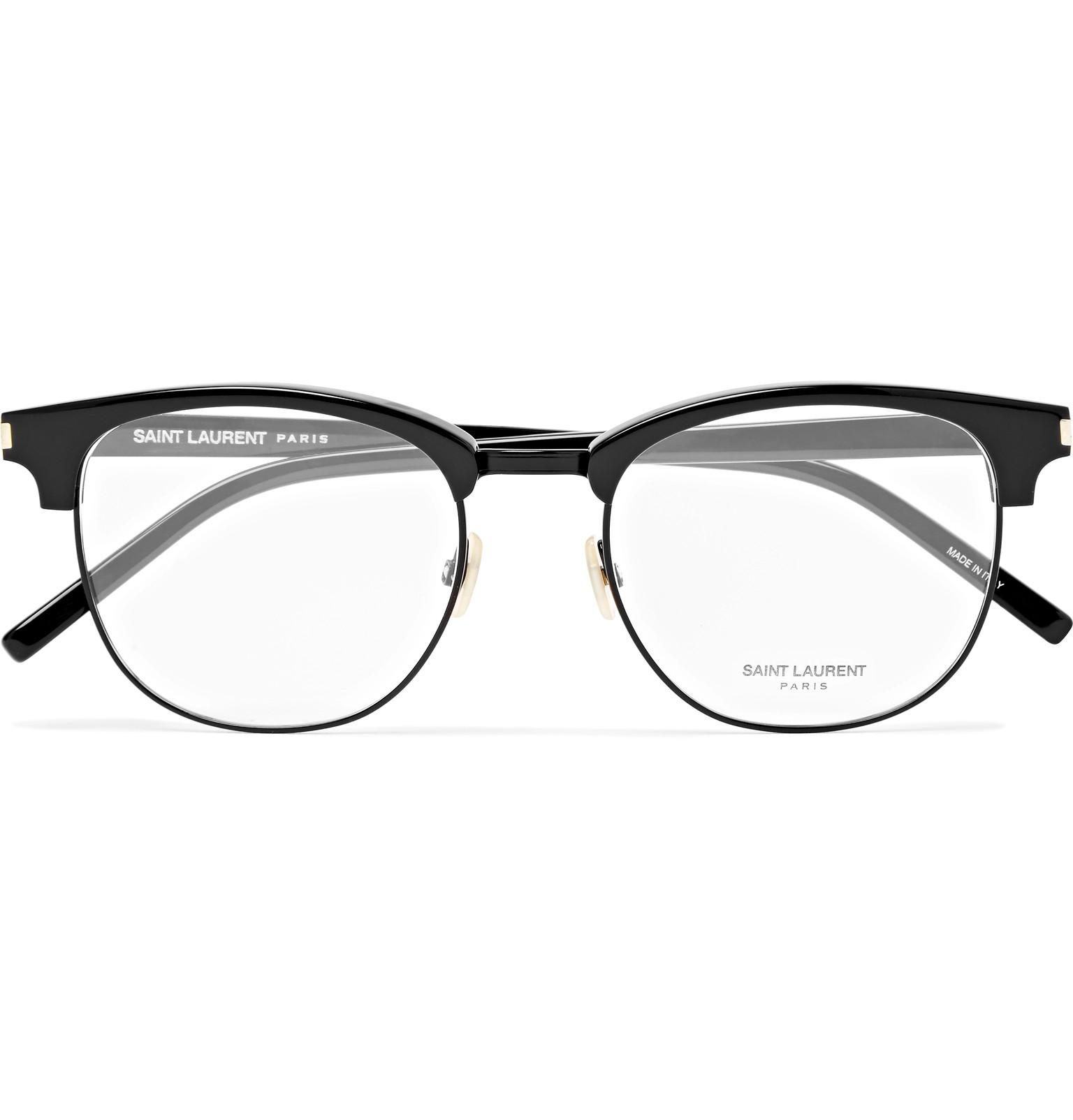 713177f2ed Lyst - Saint Laurent Round-frame Acetate And Titanium Optical ...