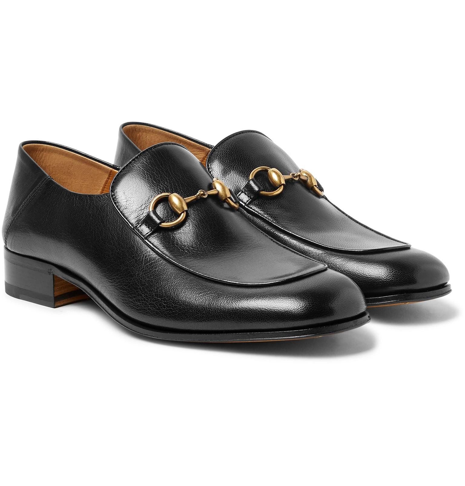 78531aa993b Gucci Mister Horsebit Collapsible-heel Leather Loafers in Black for ...